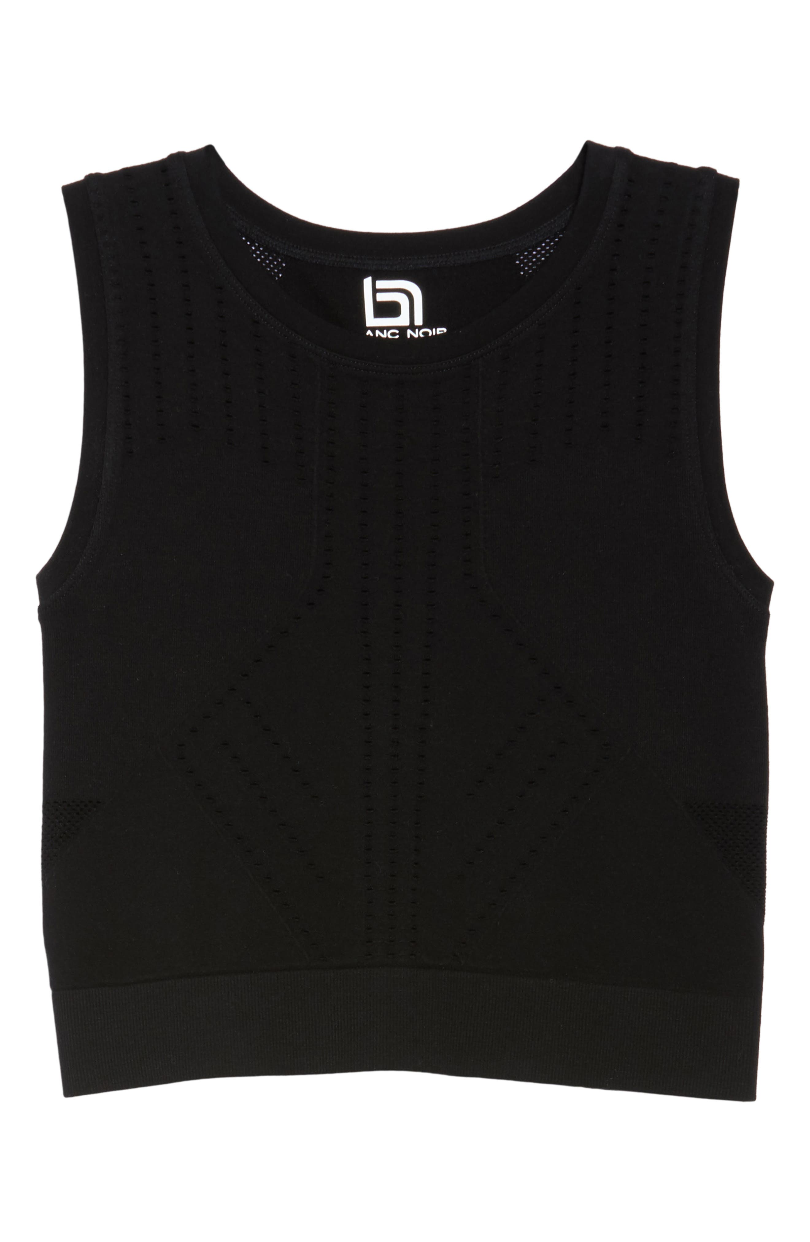 Infinity Crop Tank,                             Alternate thumbnail 7, color,                             Black