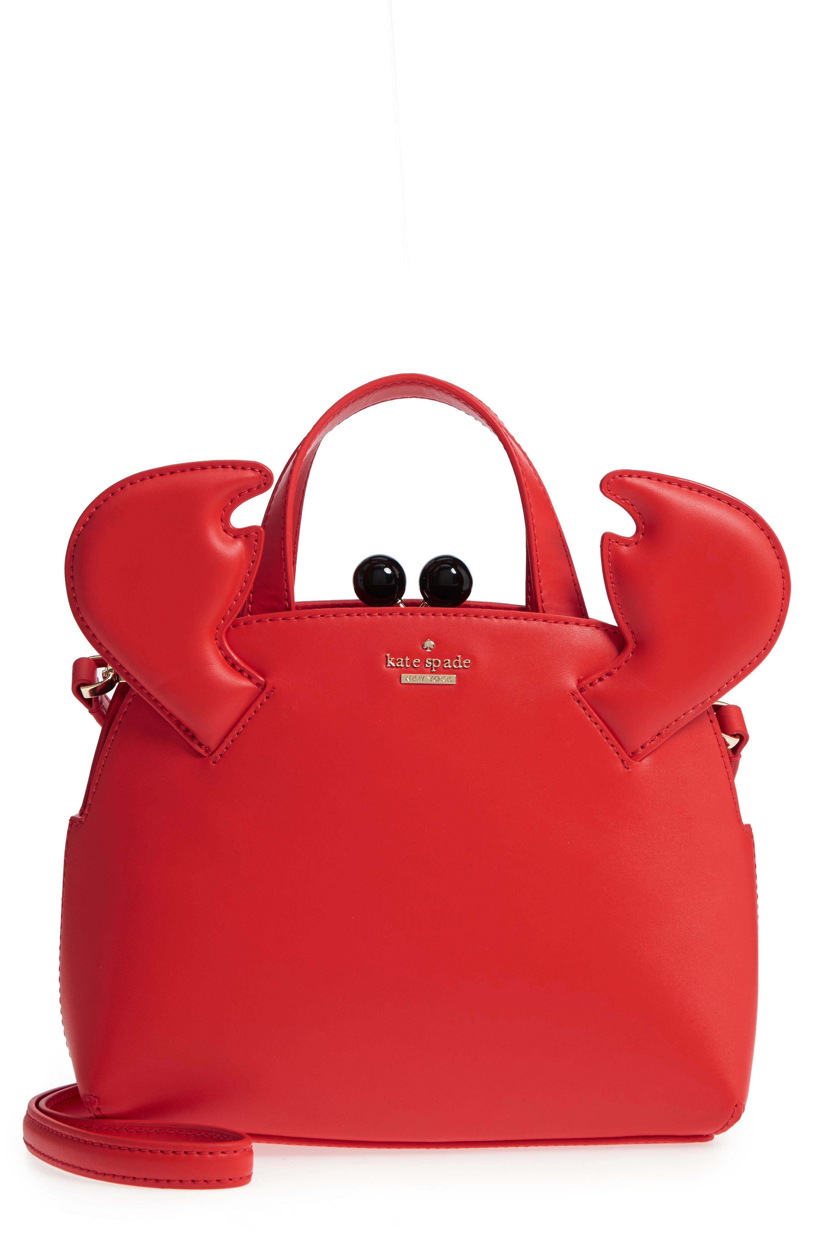 kate spade new york shore thing - small crab lottie leather satchel