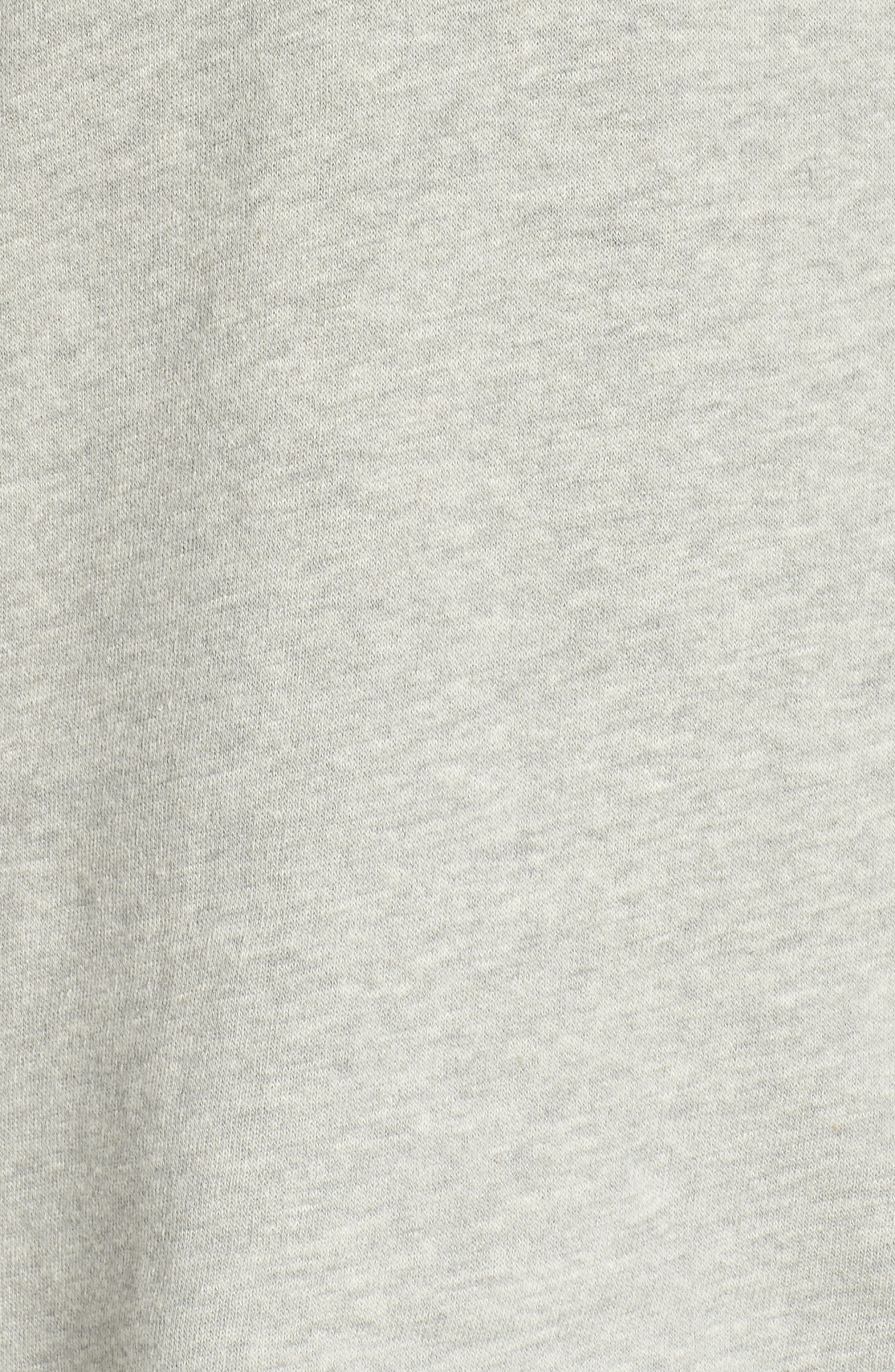 Edwardo Bell Sleeve Hoodie,                             Alternate thumbnail 7, color,                             Heather Grey