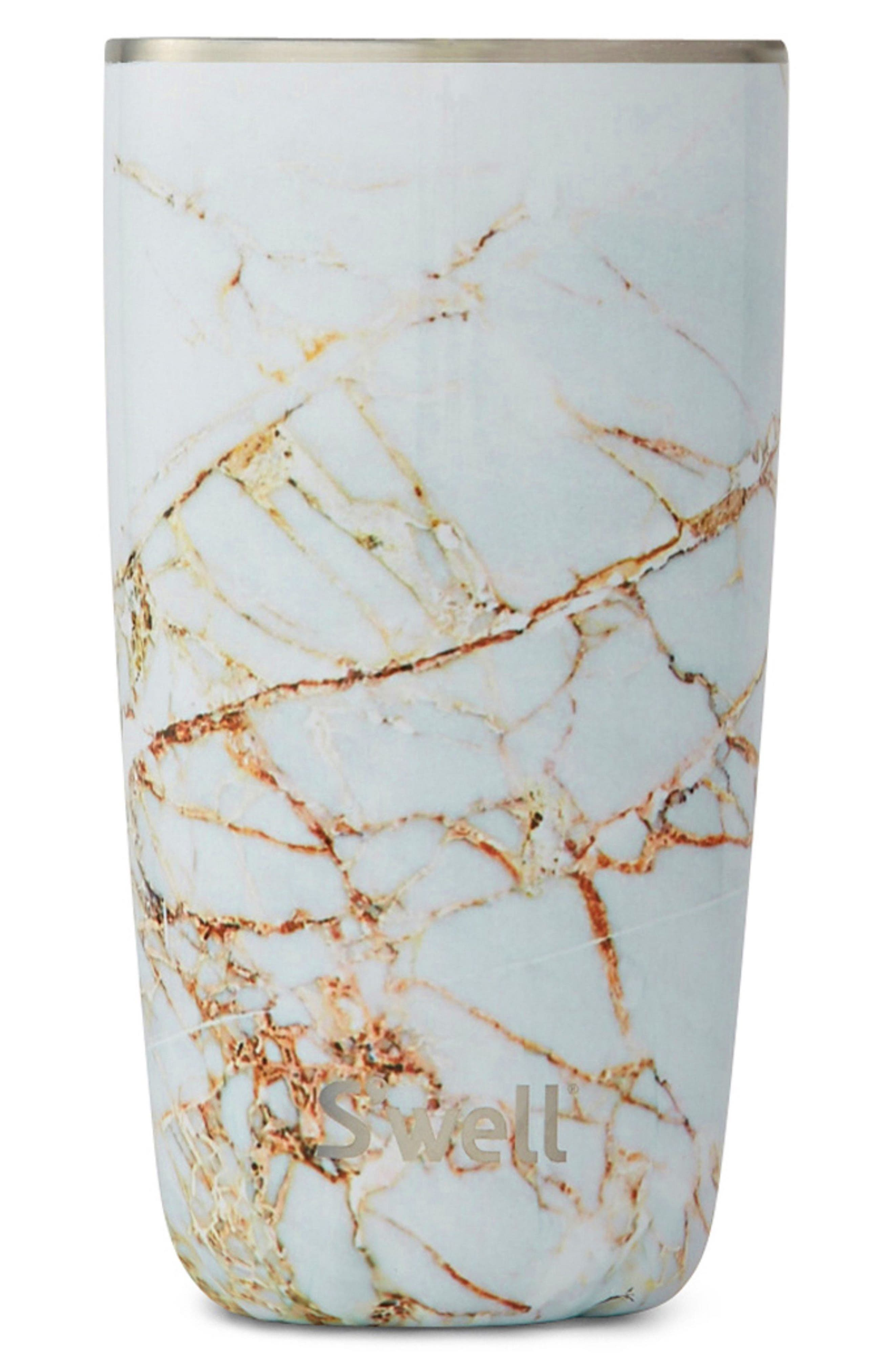 Calacatta Gold 18-Ounce Insulated Tumbler,                         Main,                         color, Grey
