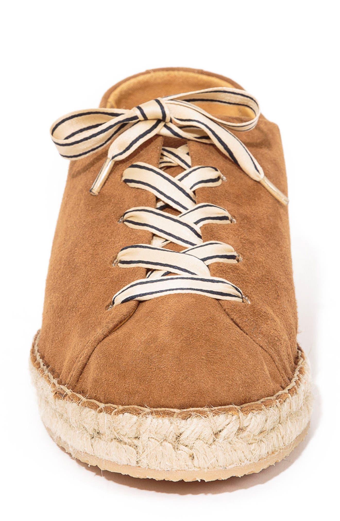 Julie Espadrille Sneaker,                             Alternate thumbnail 3, color,                             Hazelnut Brown Suede