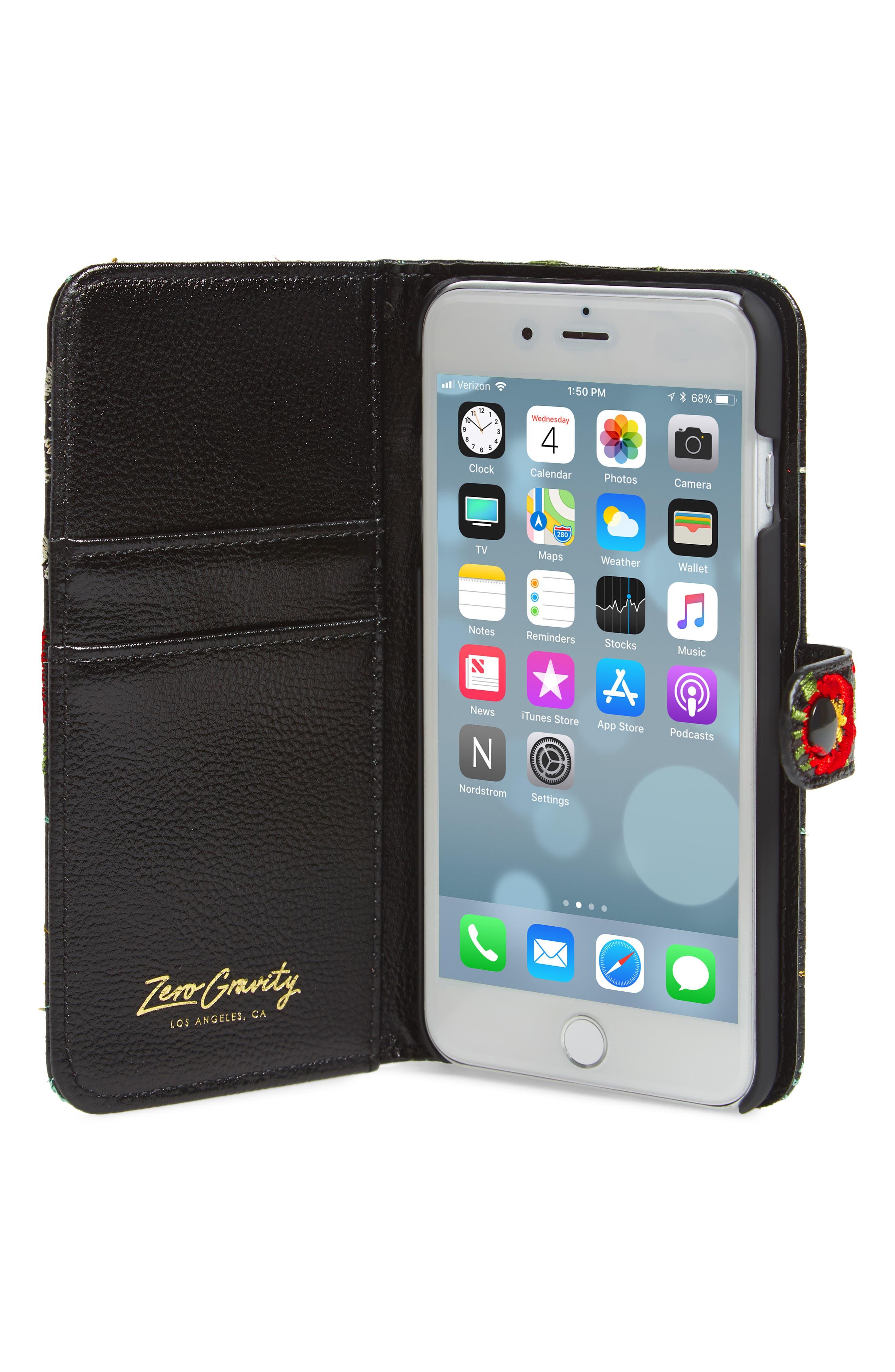 Jardin iPhone 7/8 & 7/8 Plus Wallet,                             Alternate thumbnail 2, color,                             Black Multi