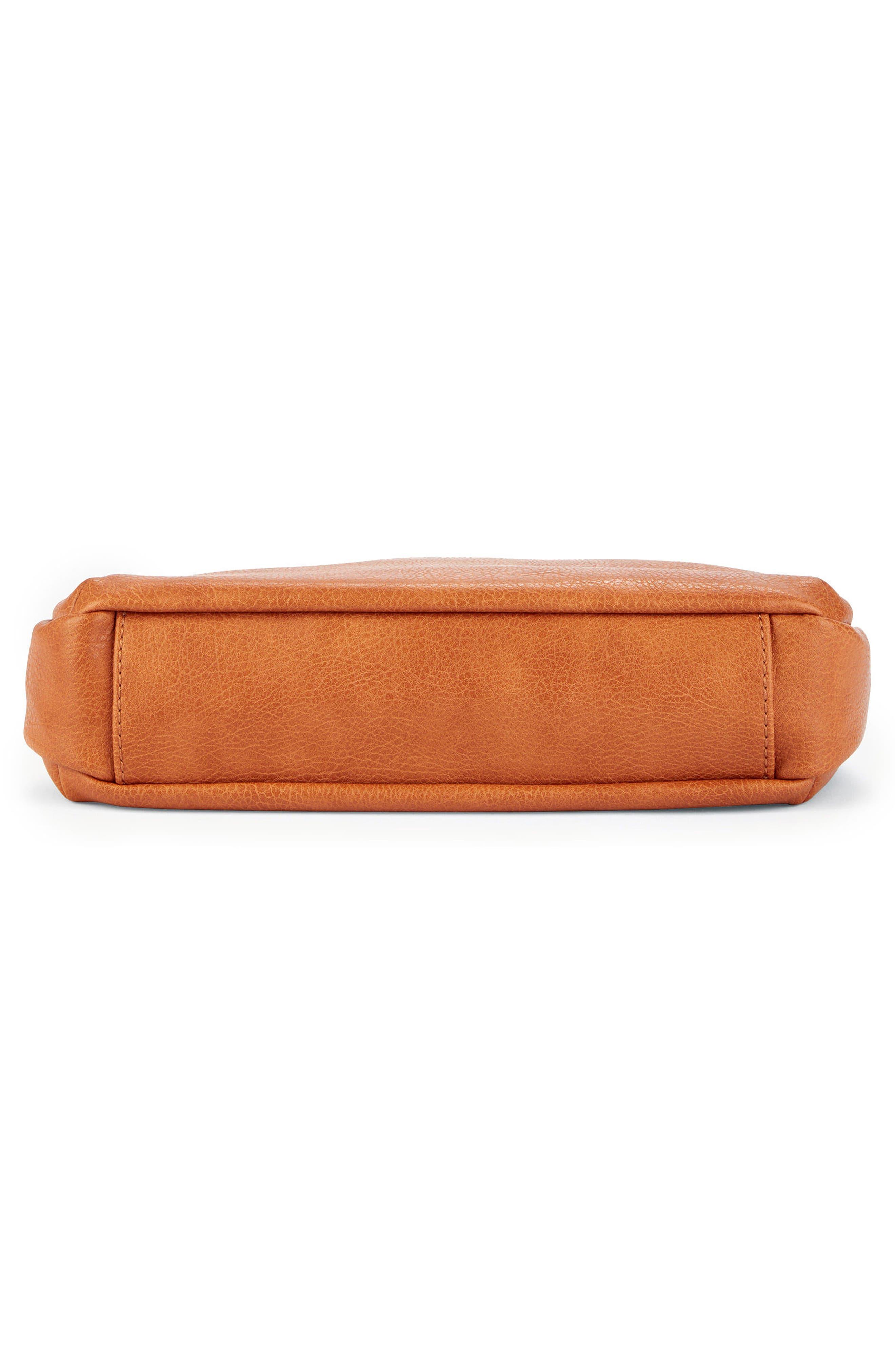 Tara Stitch Detail Faux Leather Crossbody Bag,                             Alternate thumbnail 4, color,                             Cognac
