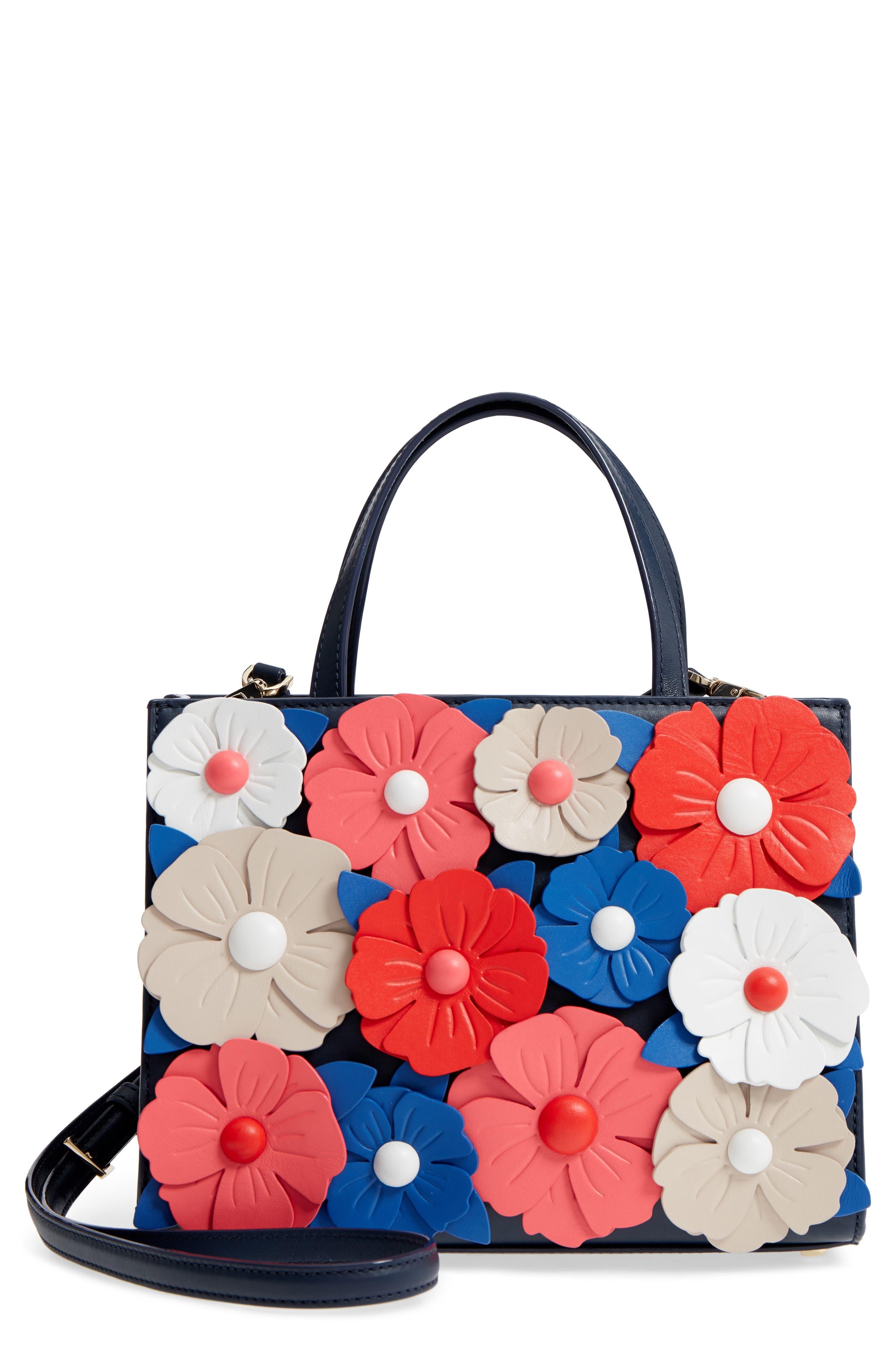 madison daisy lane – sam leather handbag,                             Main thumbnail 1, color,                             Blazer Blue Multi