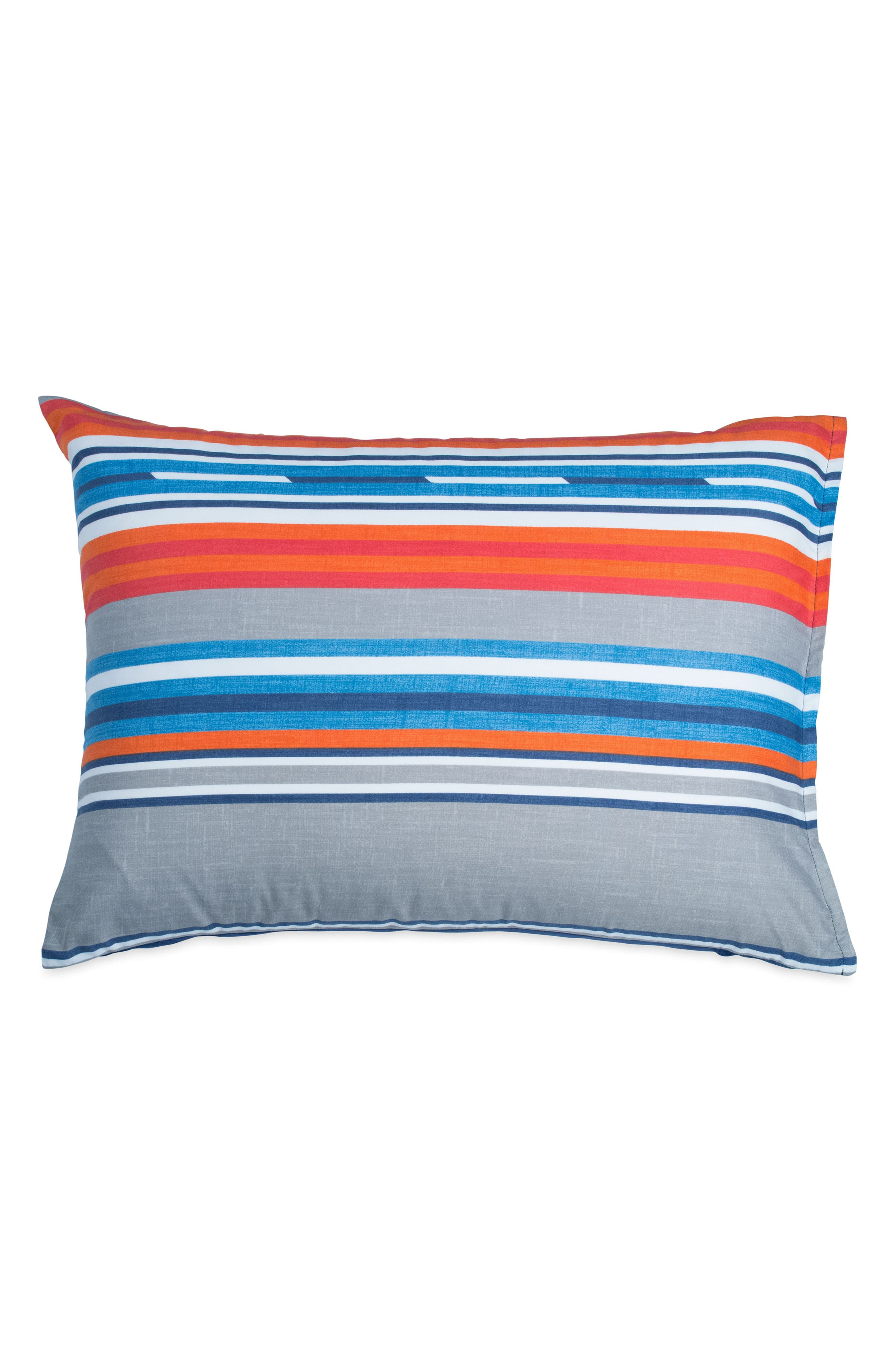 Surfboard Stripe Comforter & Sham Set,                             Alternate thumbnail 4, color,                             Grey