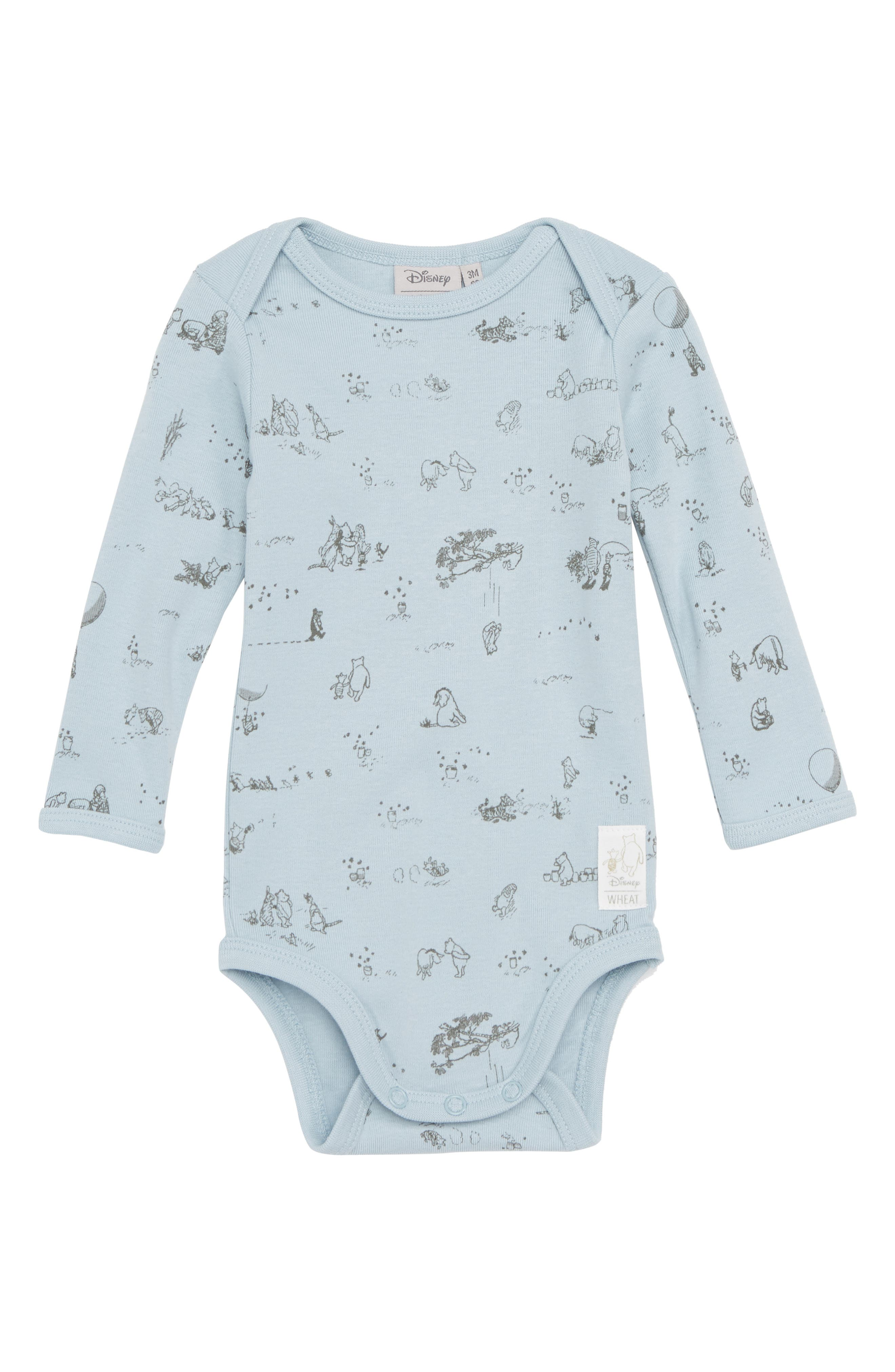 Wheat x Disney® Winnie the Pooh Organic Cotton Bodysuit (Baby Boys & Toddler Boys)