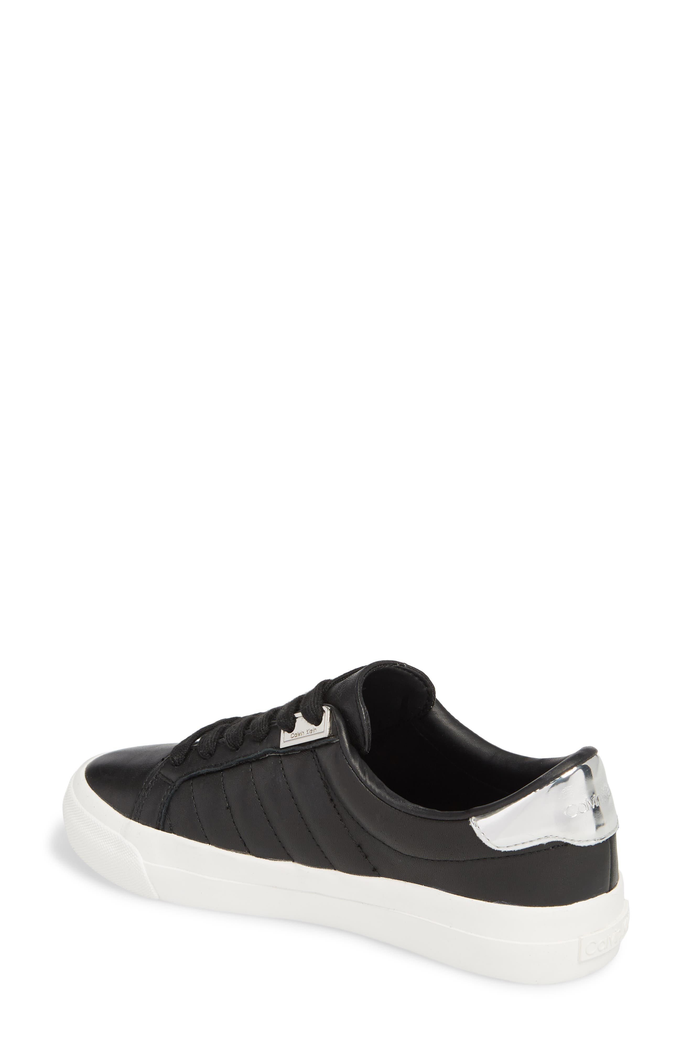 Vance Sneaker,                             Alternate thumbnail 2, color,                             Black Leather