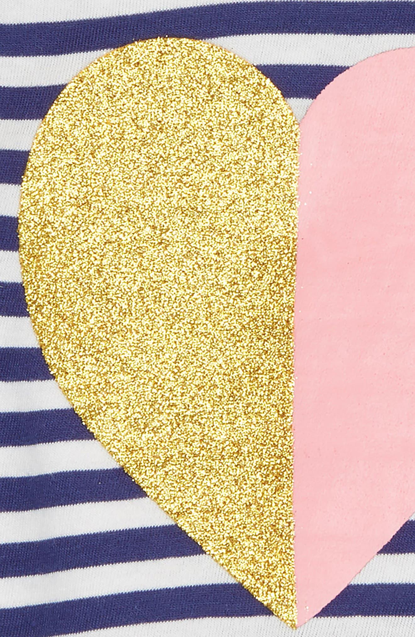Stripe Peplum Graphic Top,                             Alternate thumbnail 2, color,                             Navy Ribbon Sparkle Heart