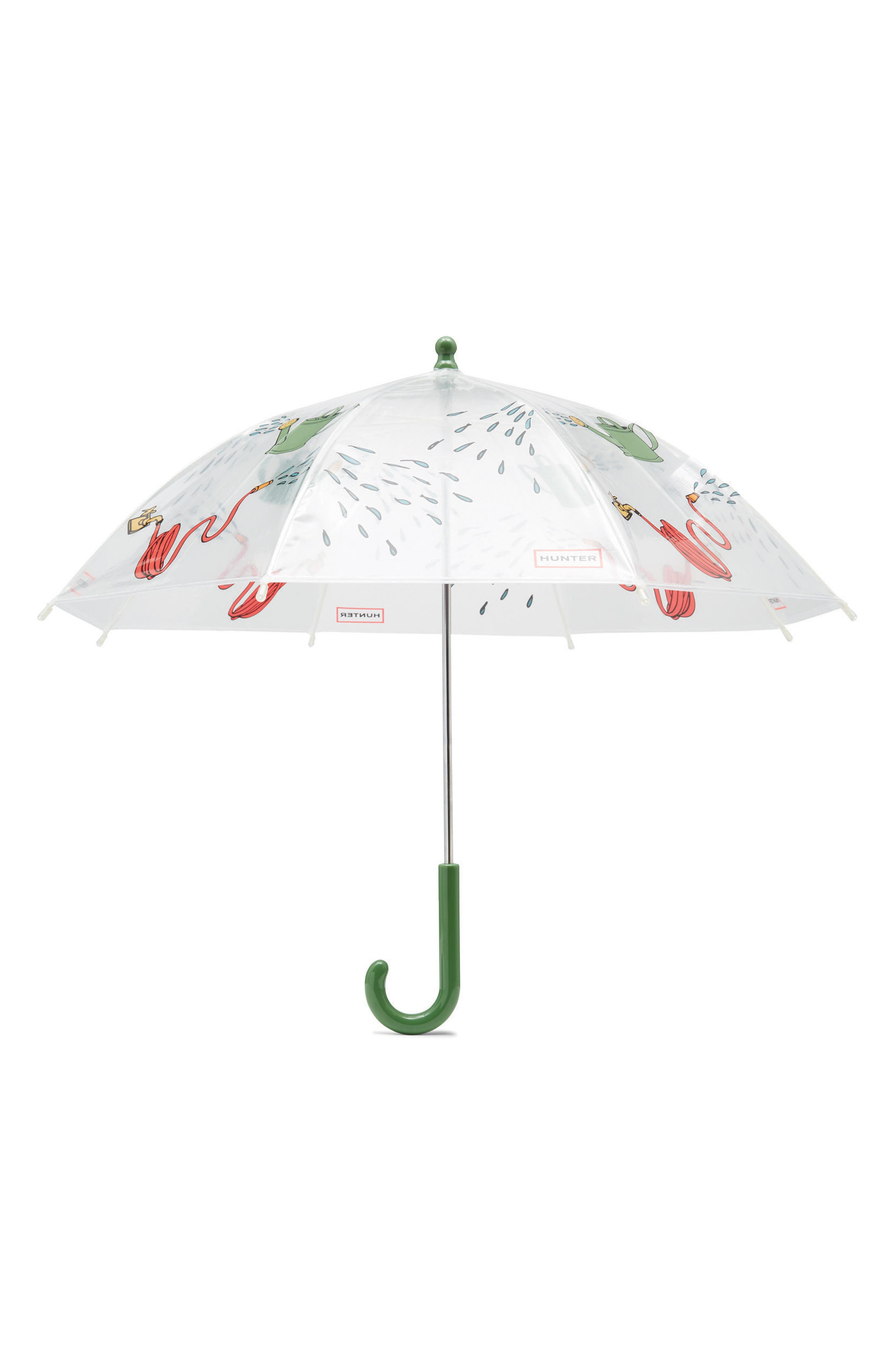 Watering Can Umbrella,                             Main thumbnail 1, color,                             Gardening Print