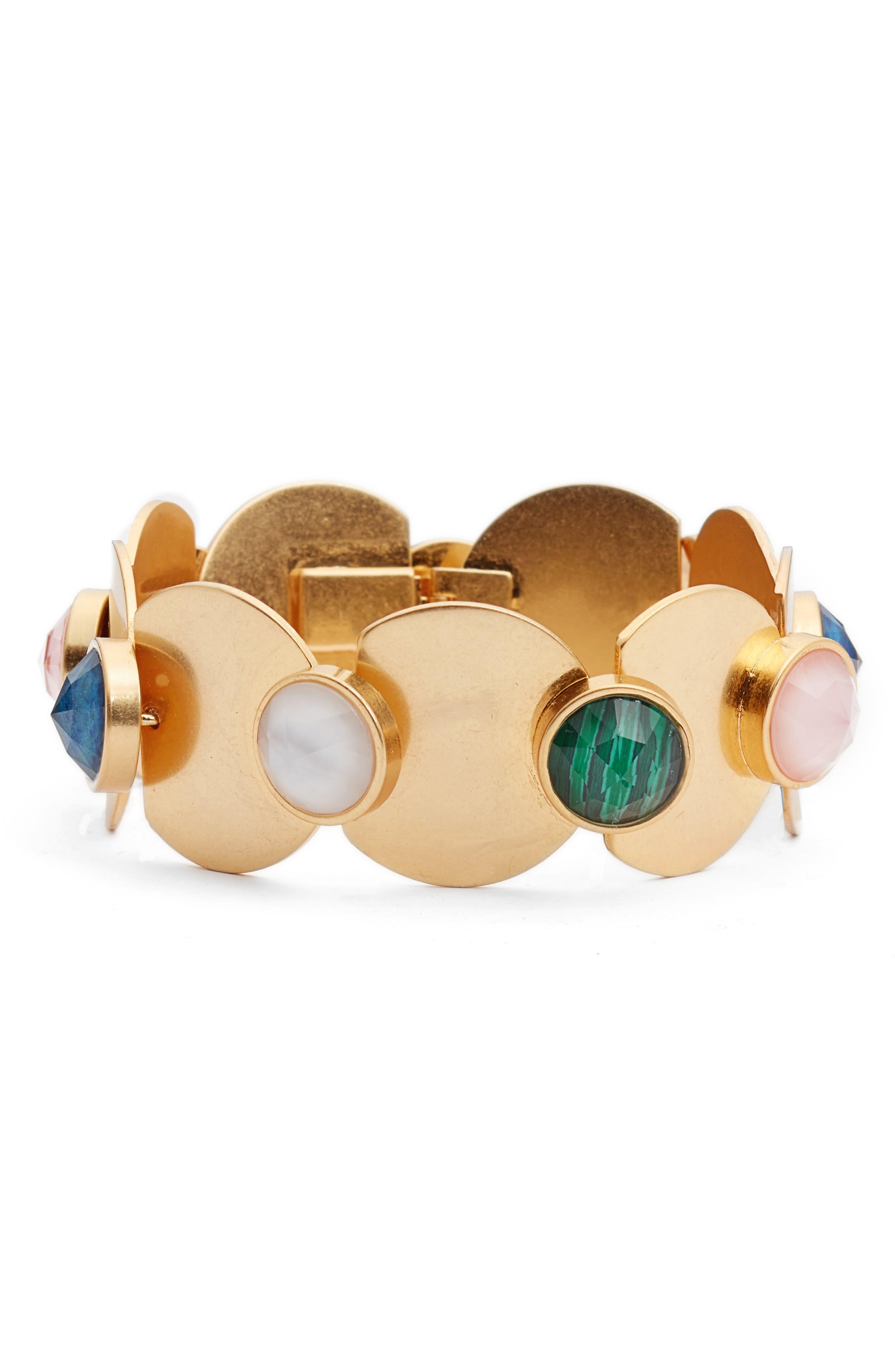 sunshine stones bracelet,                             Main thumbnail 1, color,                             Gold Multi