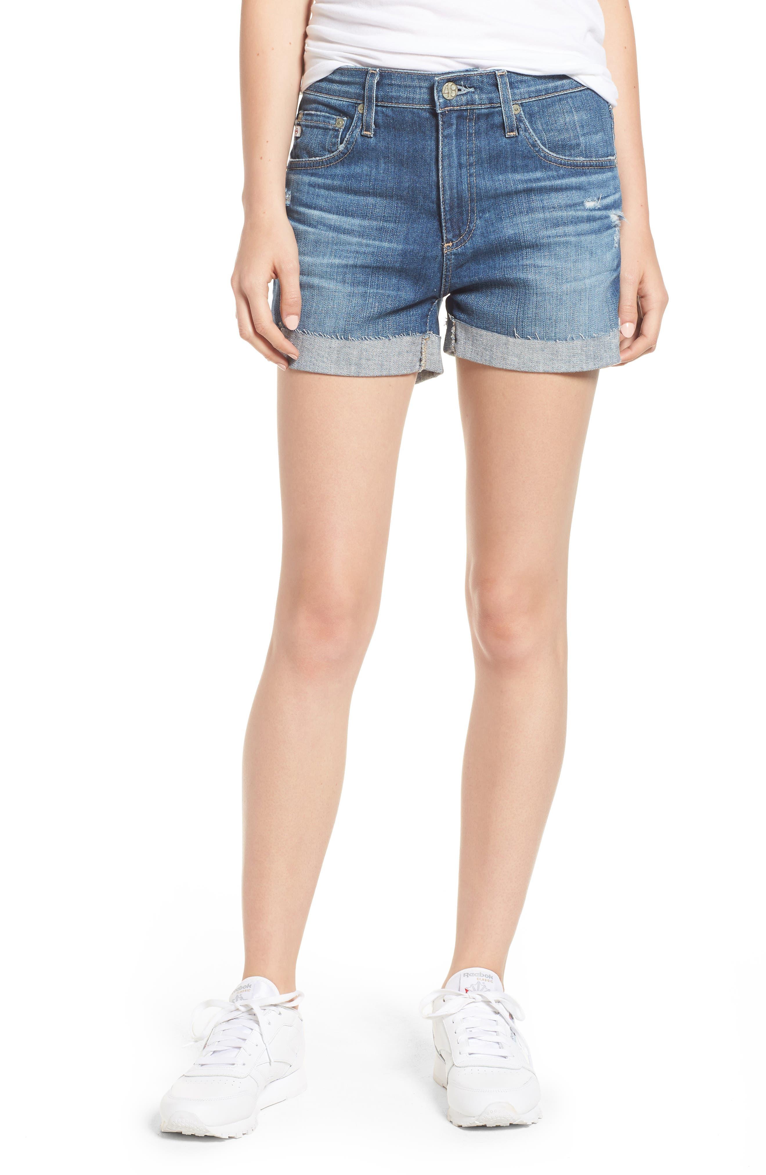 The Hailey Shorts,                         Main,                         color, 11 Years Teal Sky