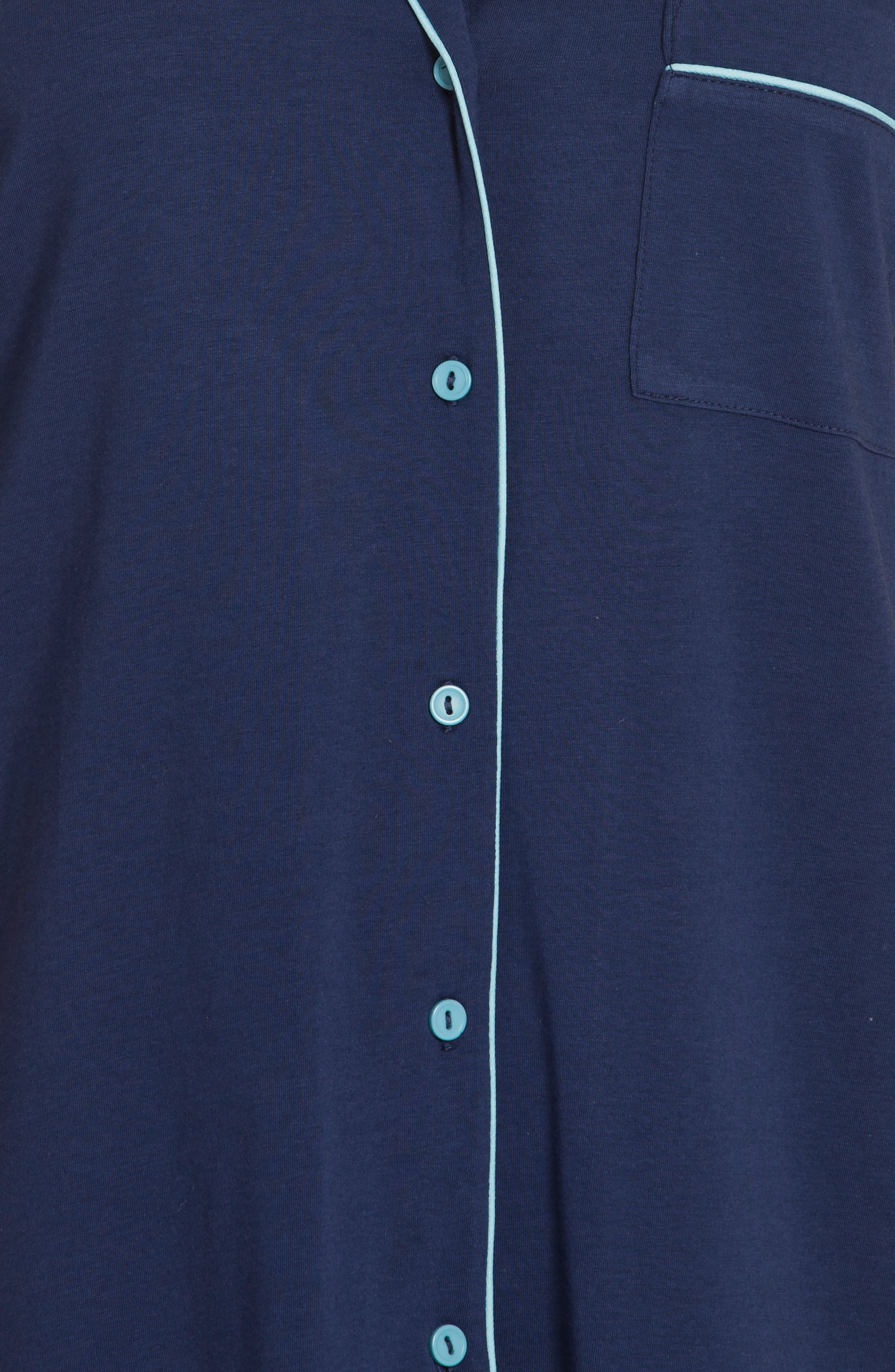 Sleep Shirt,                             Alternate thumbnail 5, color,                             Deep Pacific/ Aqua