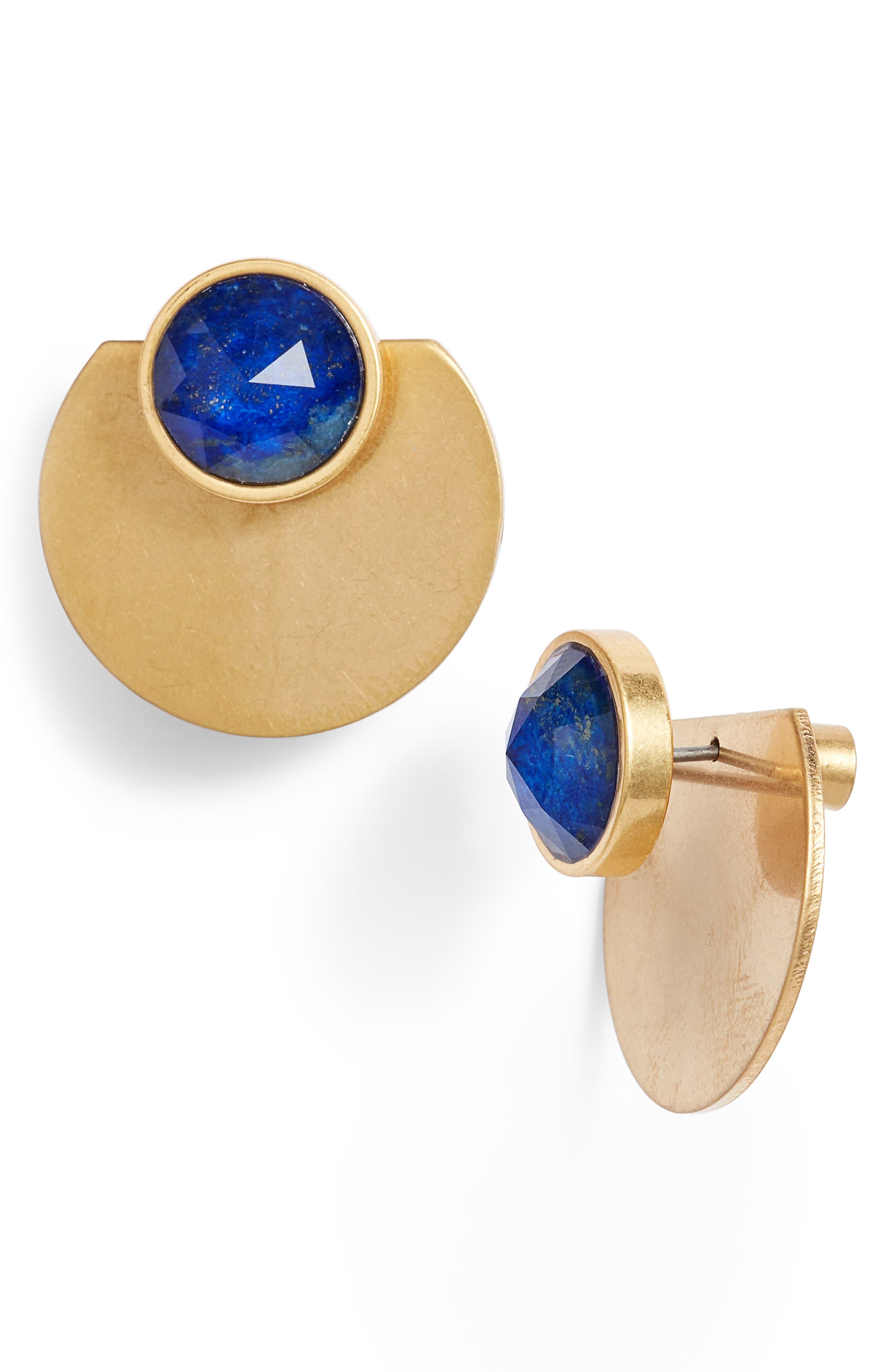 sunshine stones ear jackets,                             Main thumbnail 1, color,                             Blue