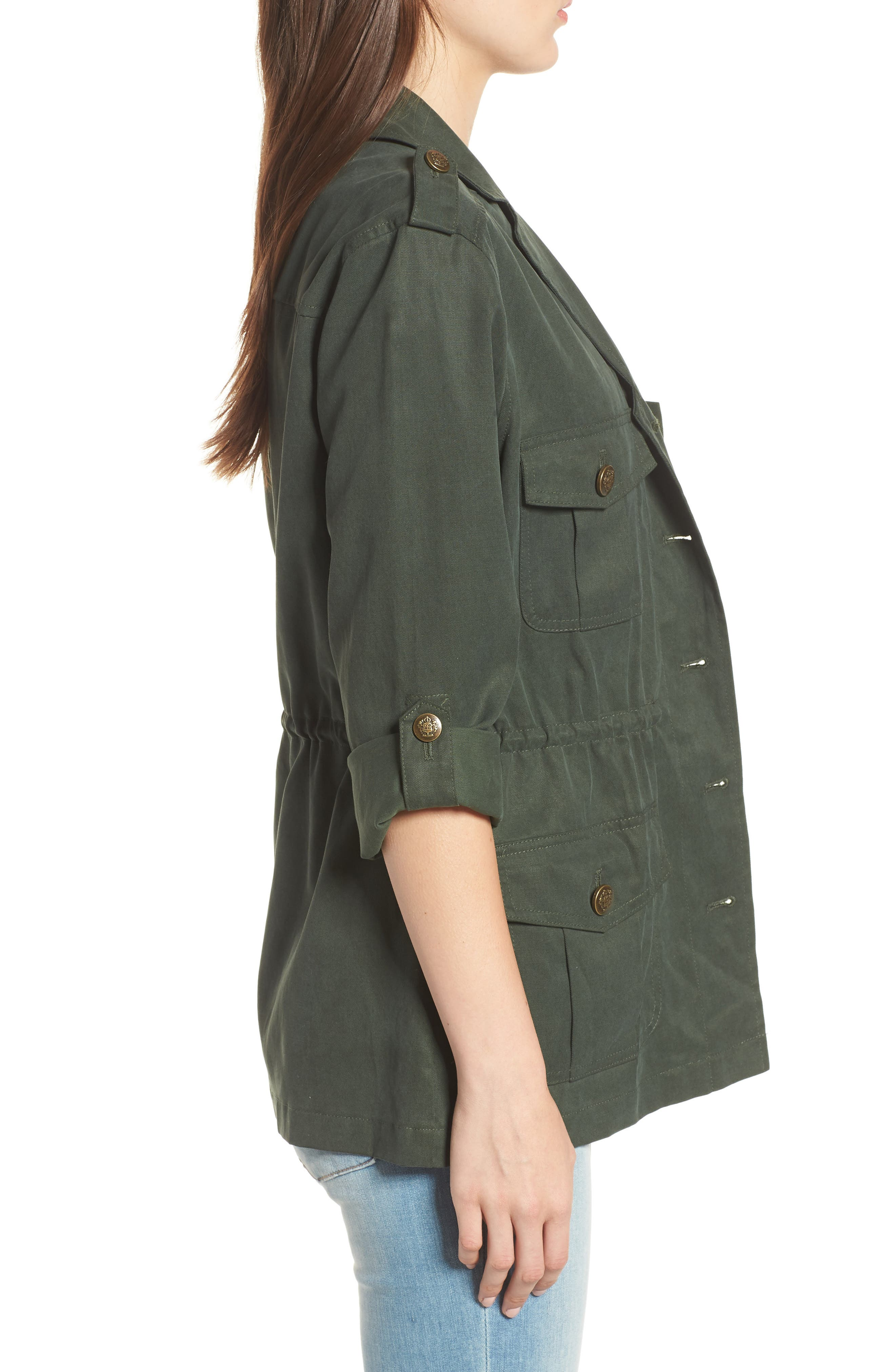 Brannen Military Jacket,                             Alternate thumbnail 3, color,                             Army