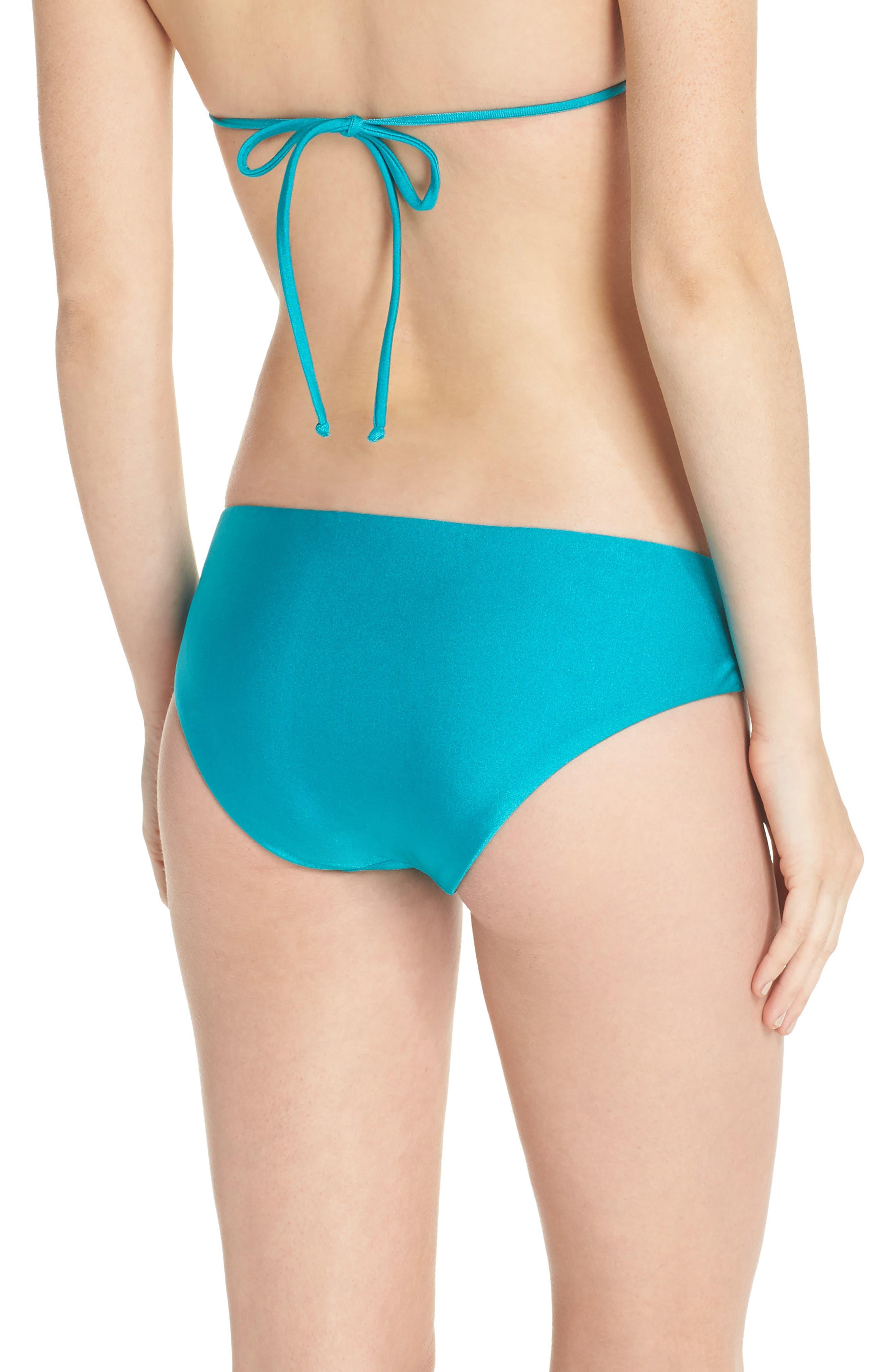 Shimmer Hipster Bikini Bottoms,                             Alternate thumbnail 2, color,                             Arcadia