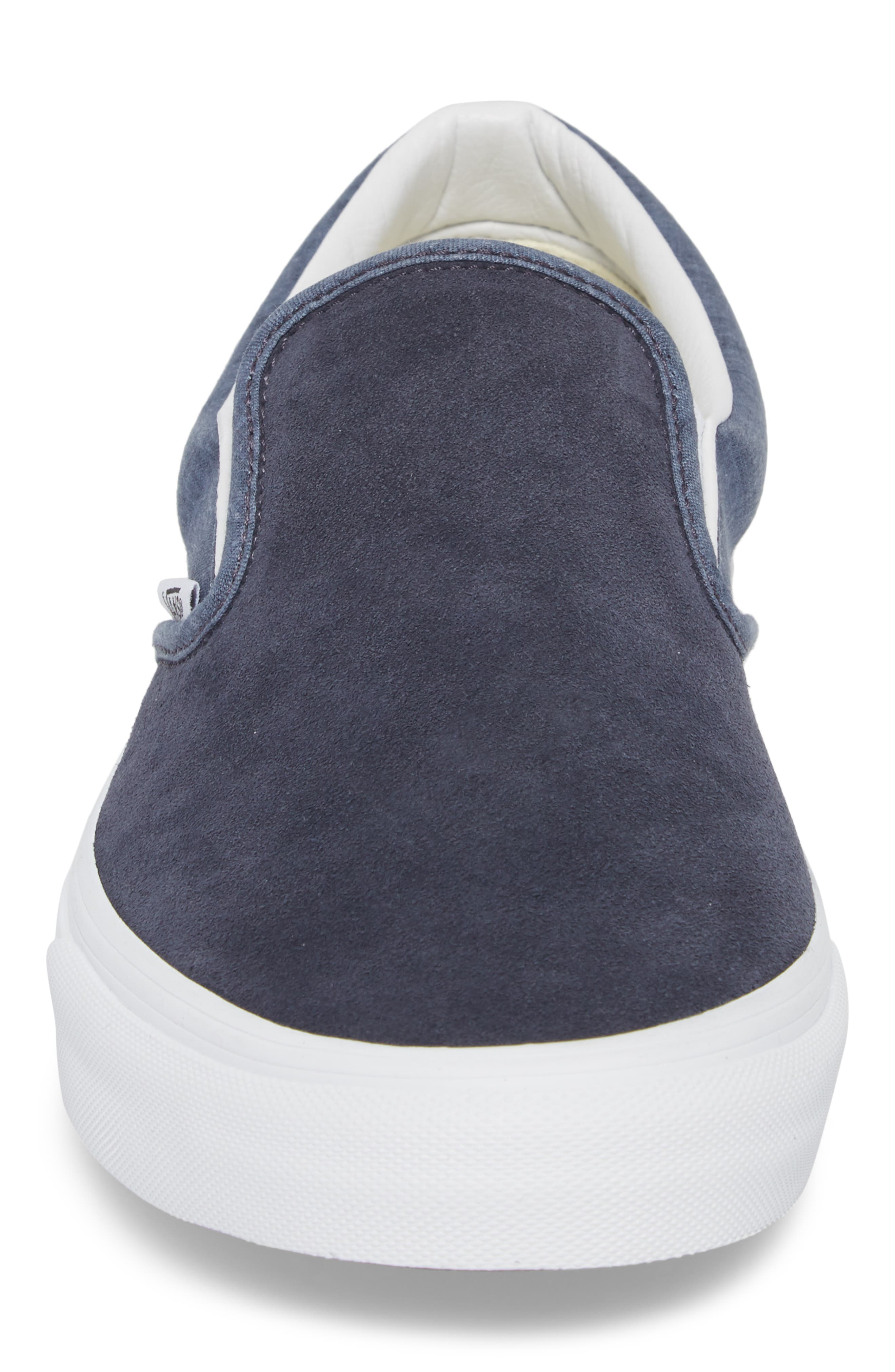 'Classic' Slip-On Sneaker,                             Alternate thumbnail 3, color,                             Parisian Night Suede