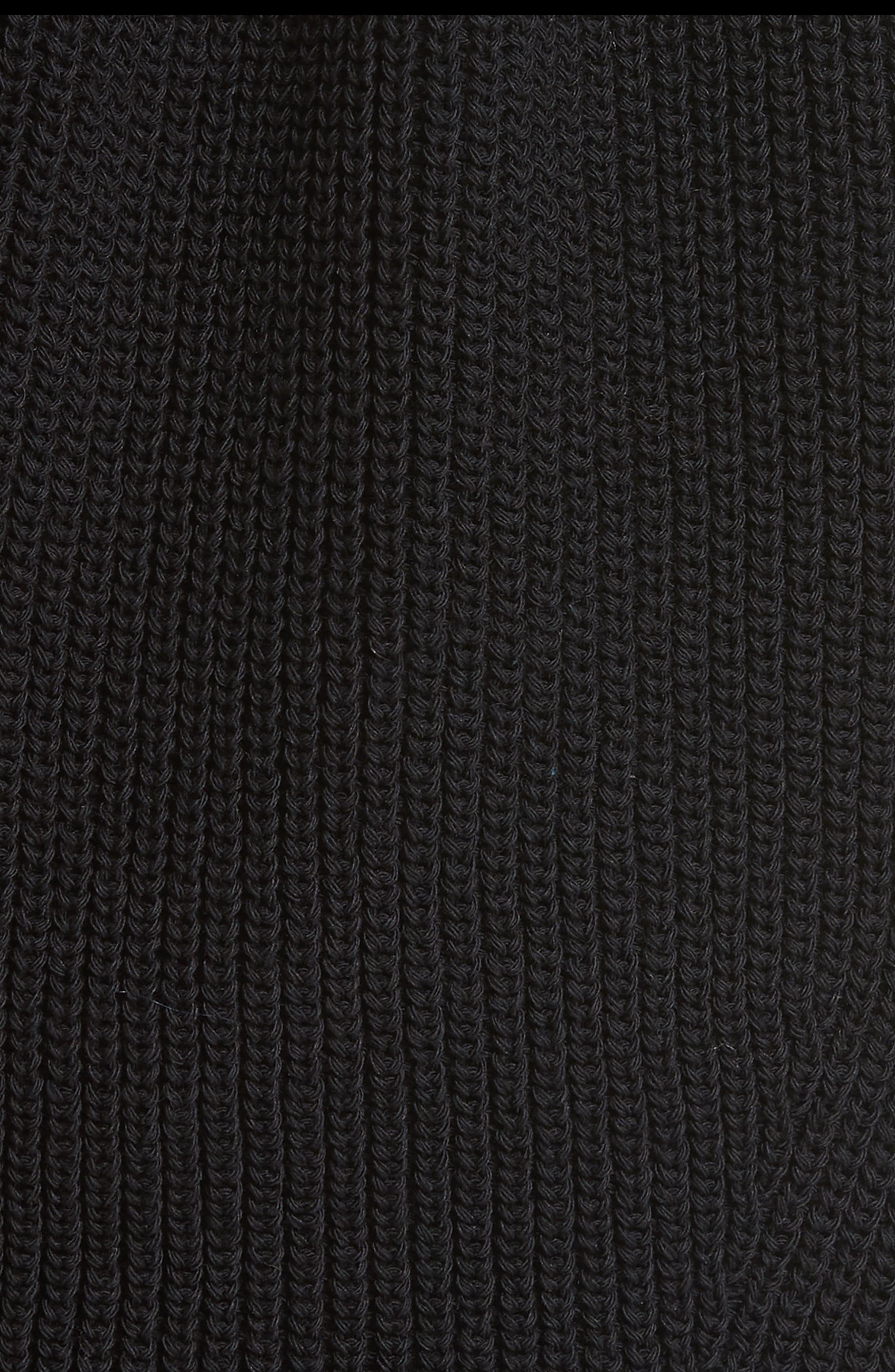 Drawstring Knit Top,                             Alternate thumbnail 5, color,                             Black