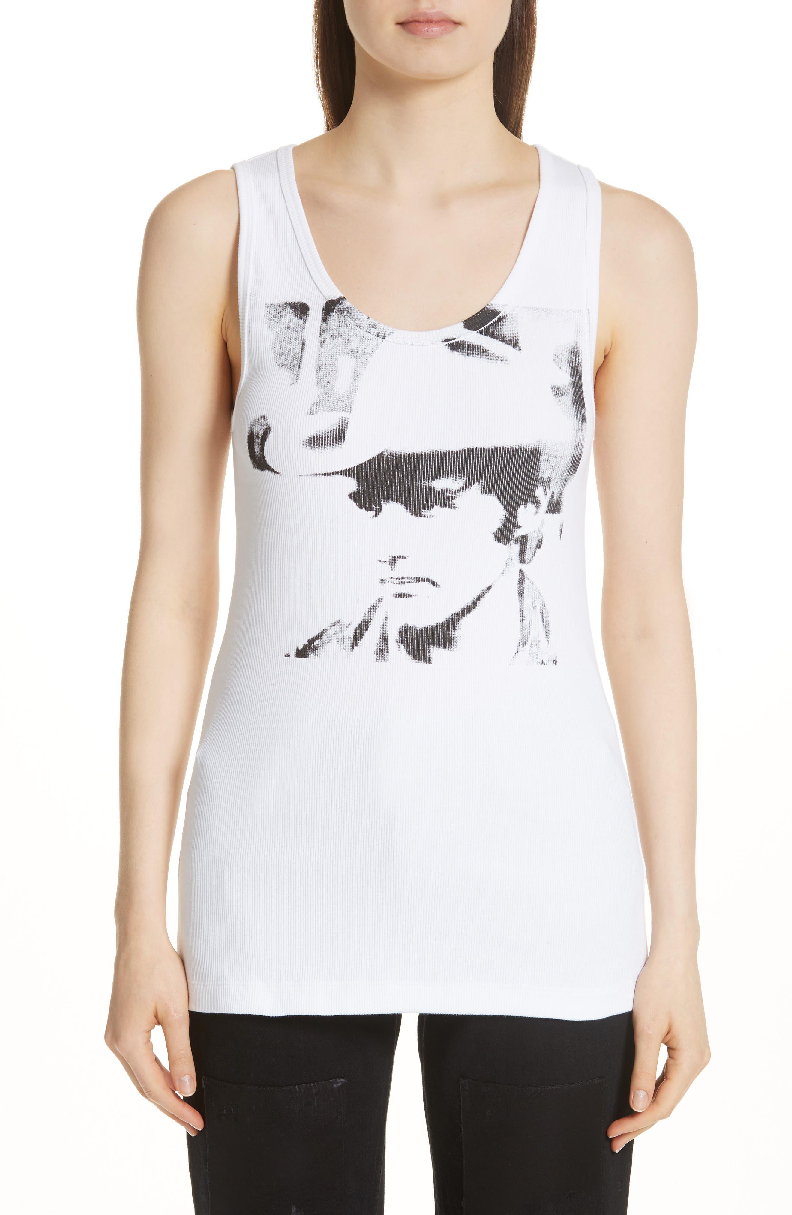 x Andy Warhol Foundation Dennis Hopper Tank,                             Main thumbnail 1, color,                             Optic White