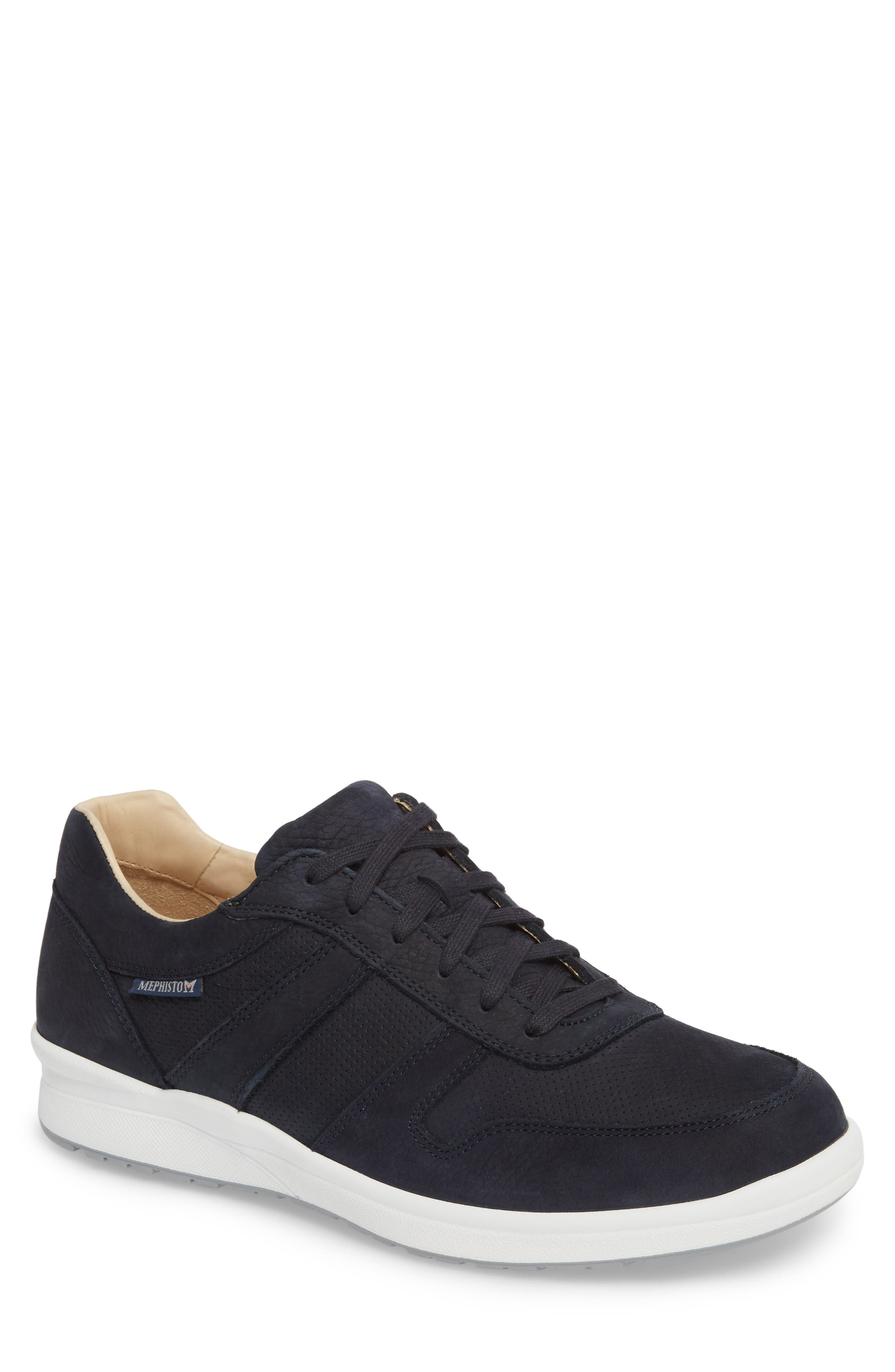 Vito Perforated Sneaker,                         Main,                         color, Navy