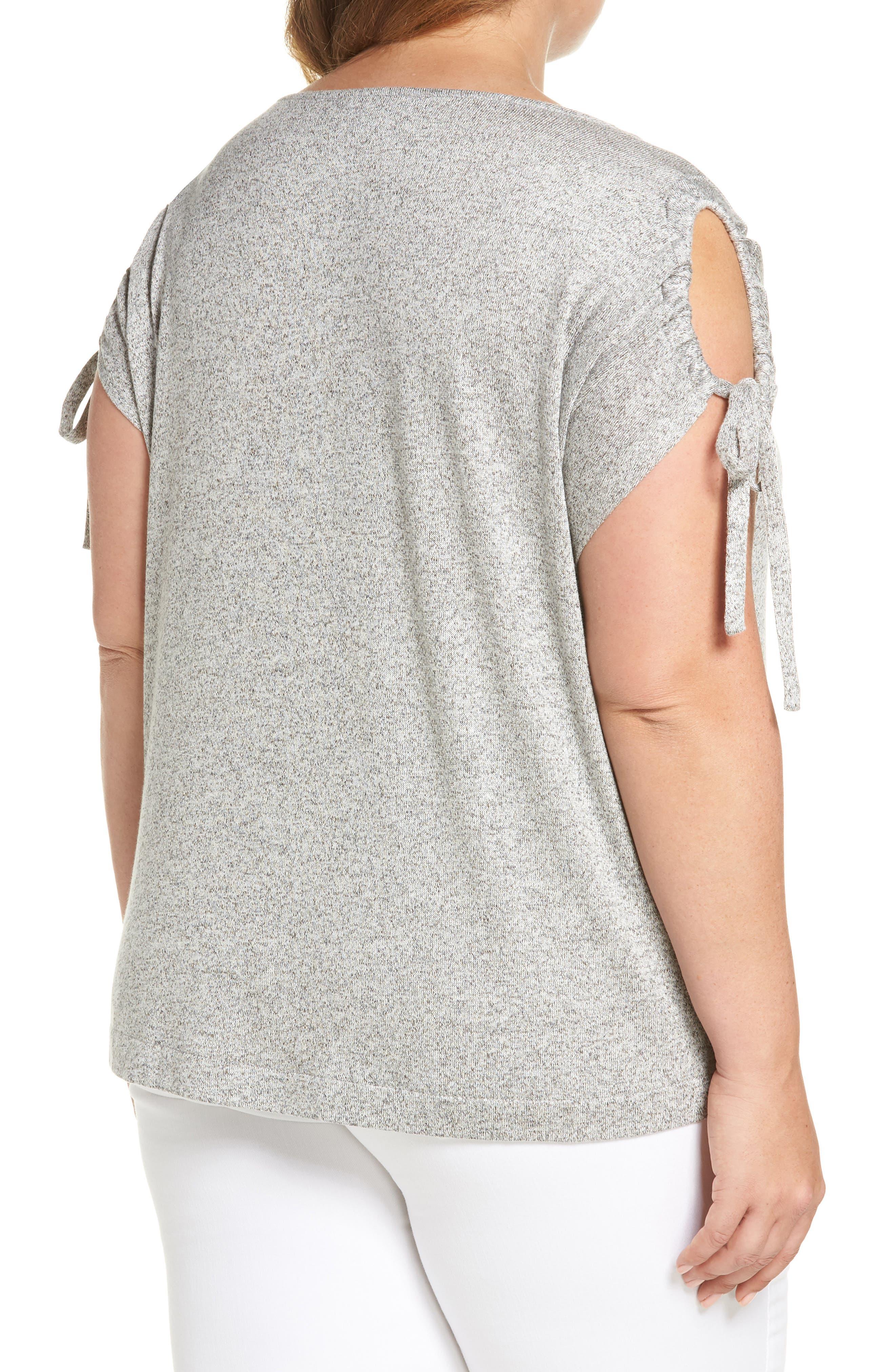 Alternate Image 2  - Lucky Brand Tie Shoulder Top (Plus Size)