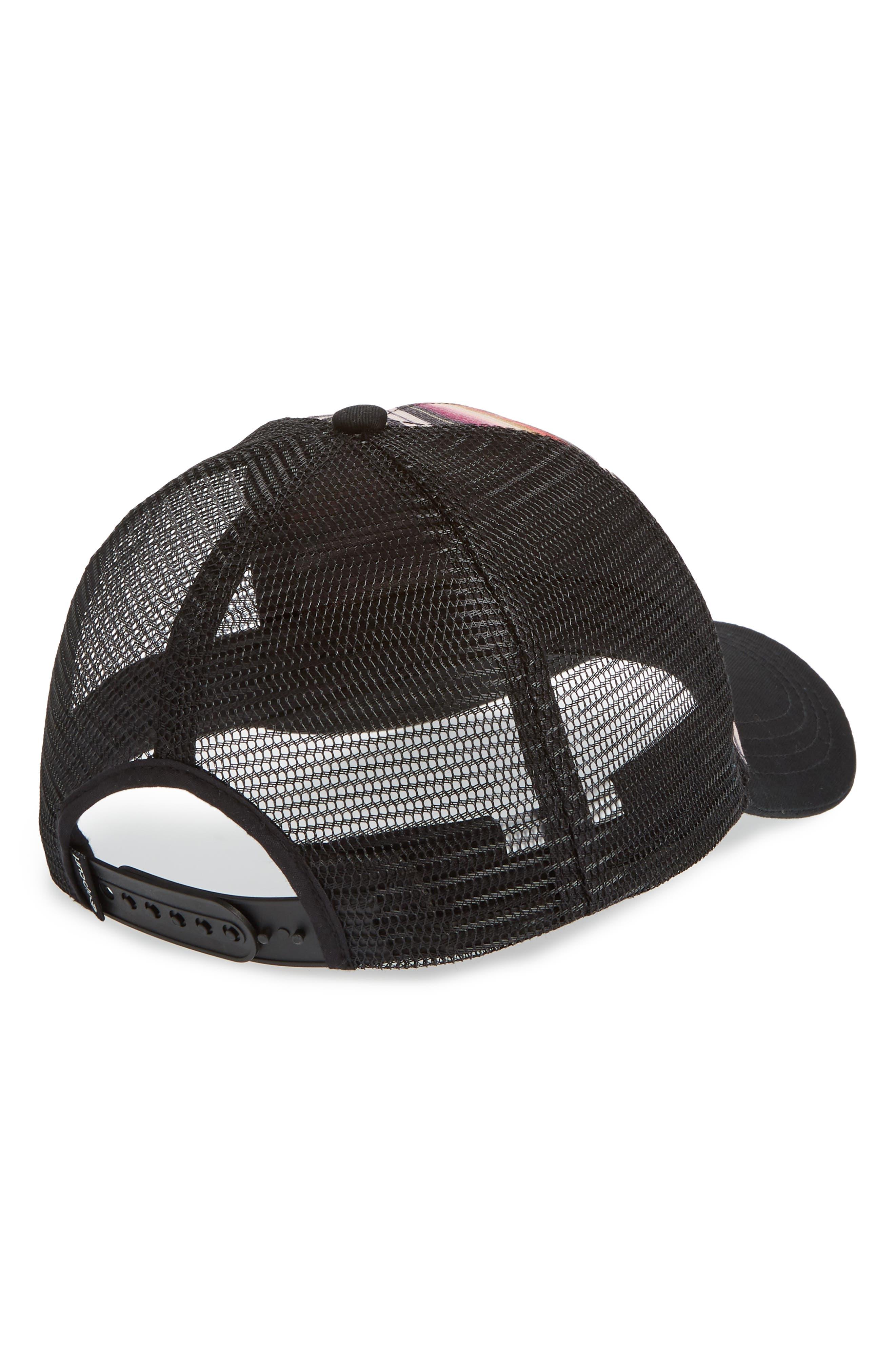 Sayulita Trucker Hat,                             Alternate thumbnail 2, color,                             Black