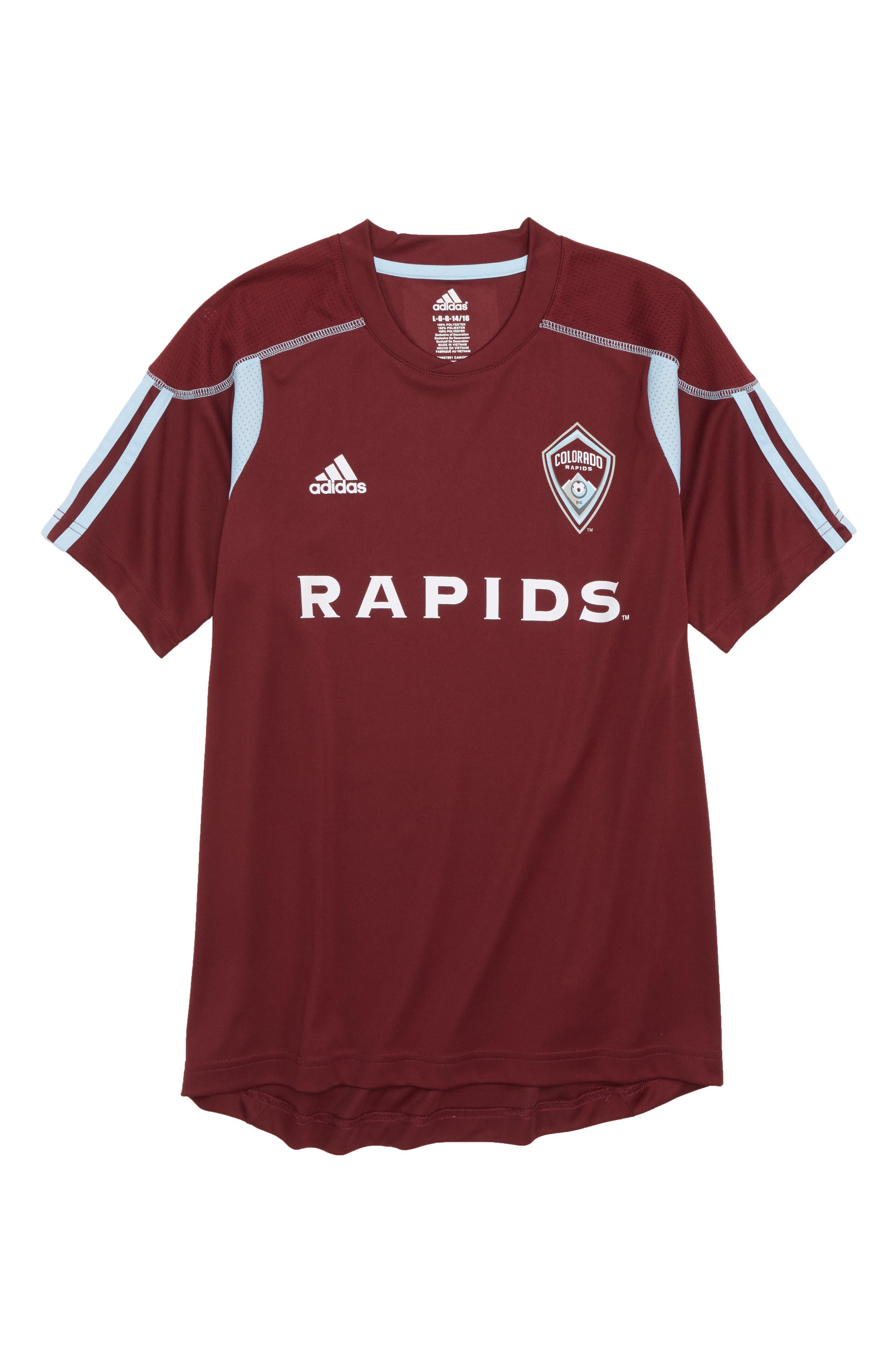 MLS Colorado Rapids Primary Logo Graphic T-Shirt,                             Main thumbnail 1, color,                             Dark Burgundy