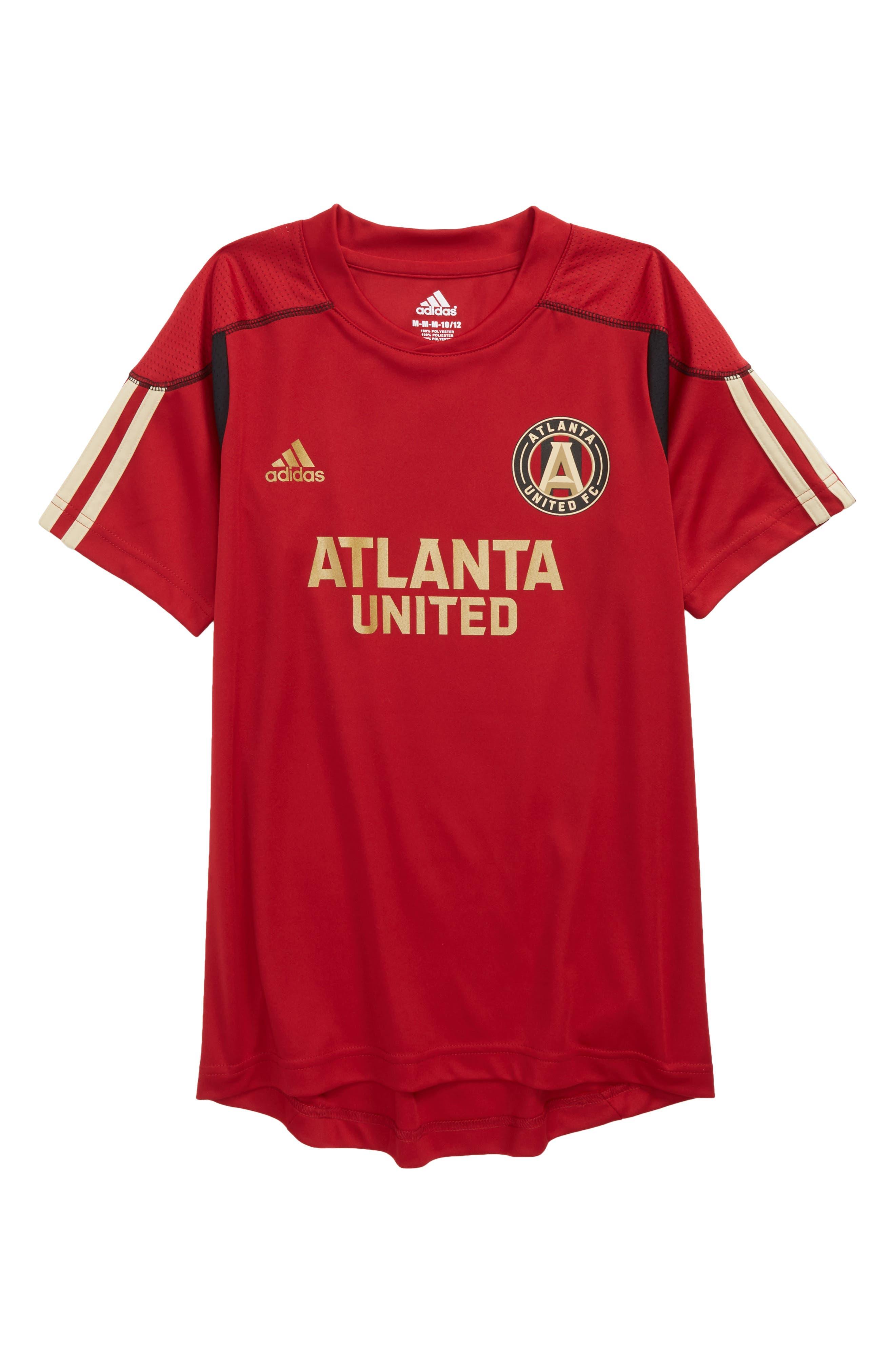 MLS Atlanta United FC Primary Logo Graphic T-Shirt,                             Main thumbnail 1, color,                             Victory Red