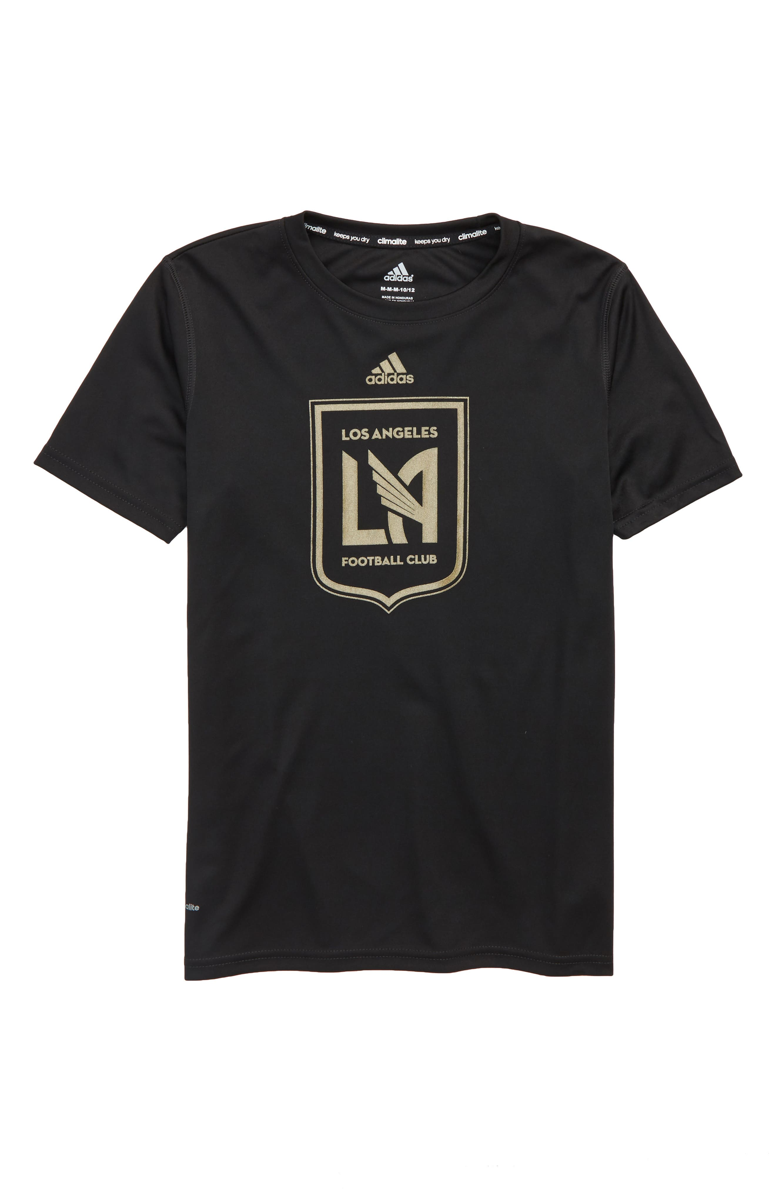 MLS Los Angeles FC Climalite<sup>®</sup> T-Shirt,                             Main thumbnail 1, color,                             Black