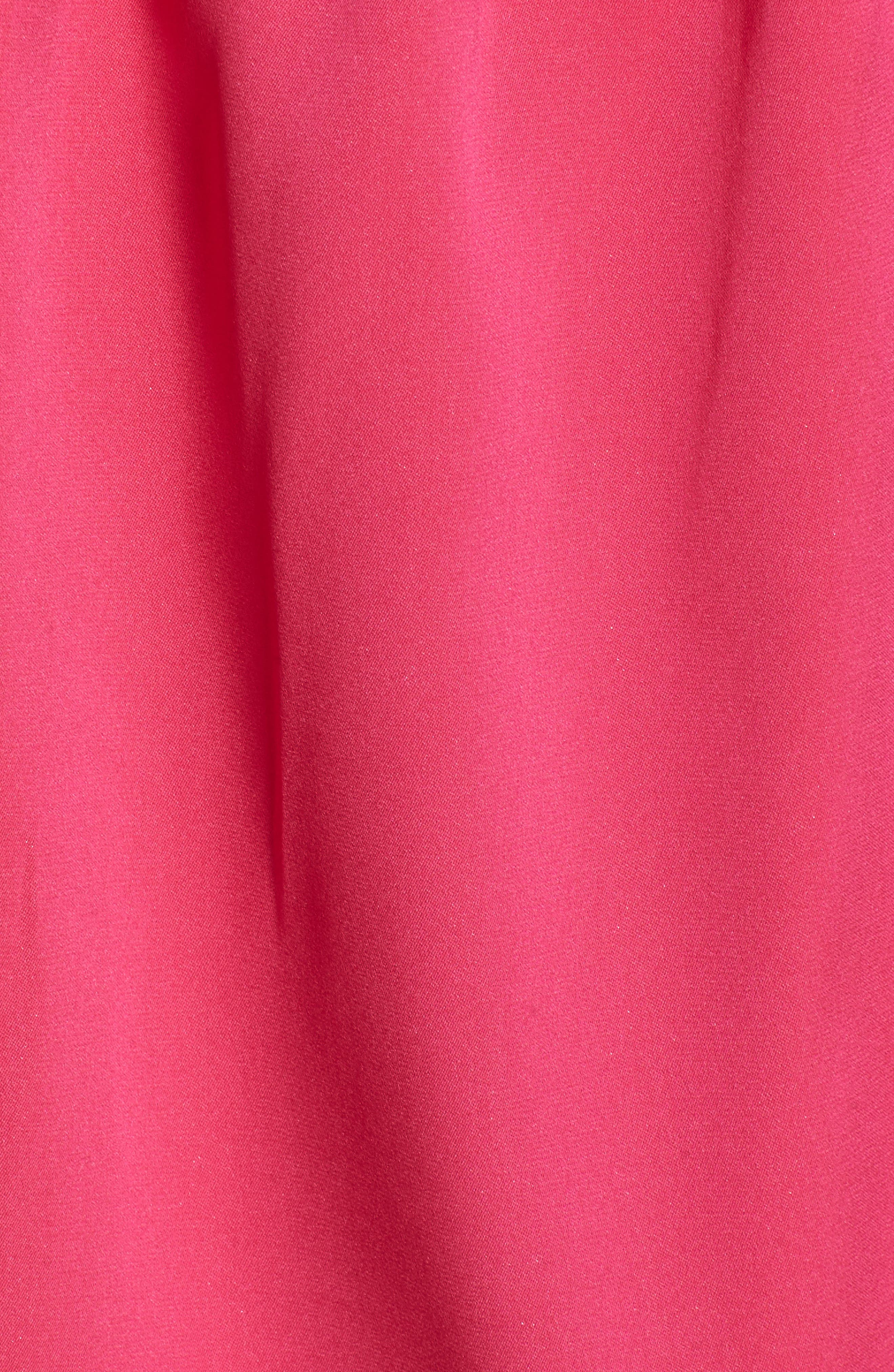 Tie Strap Stretch Silk Camisole,                             Alternate thumbnail 4, color,                             Pink Beetroot