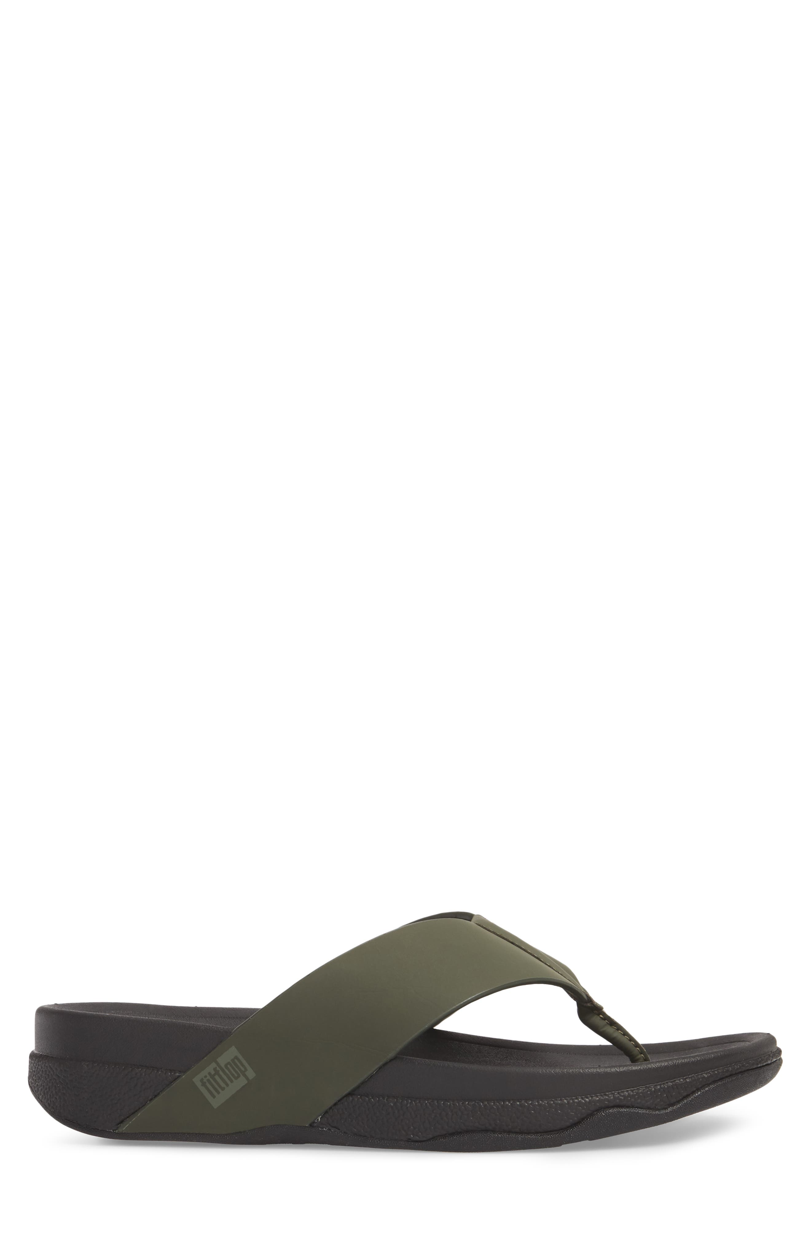 Surfer Toe Flip Flop,                             Alternate thumbnail 3, color,                             Camouflage Green