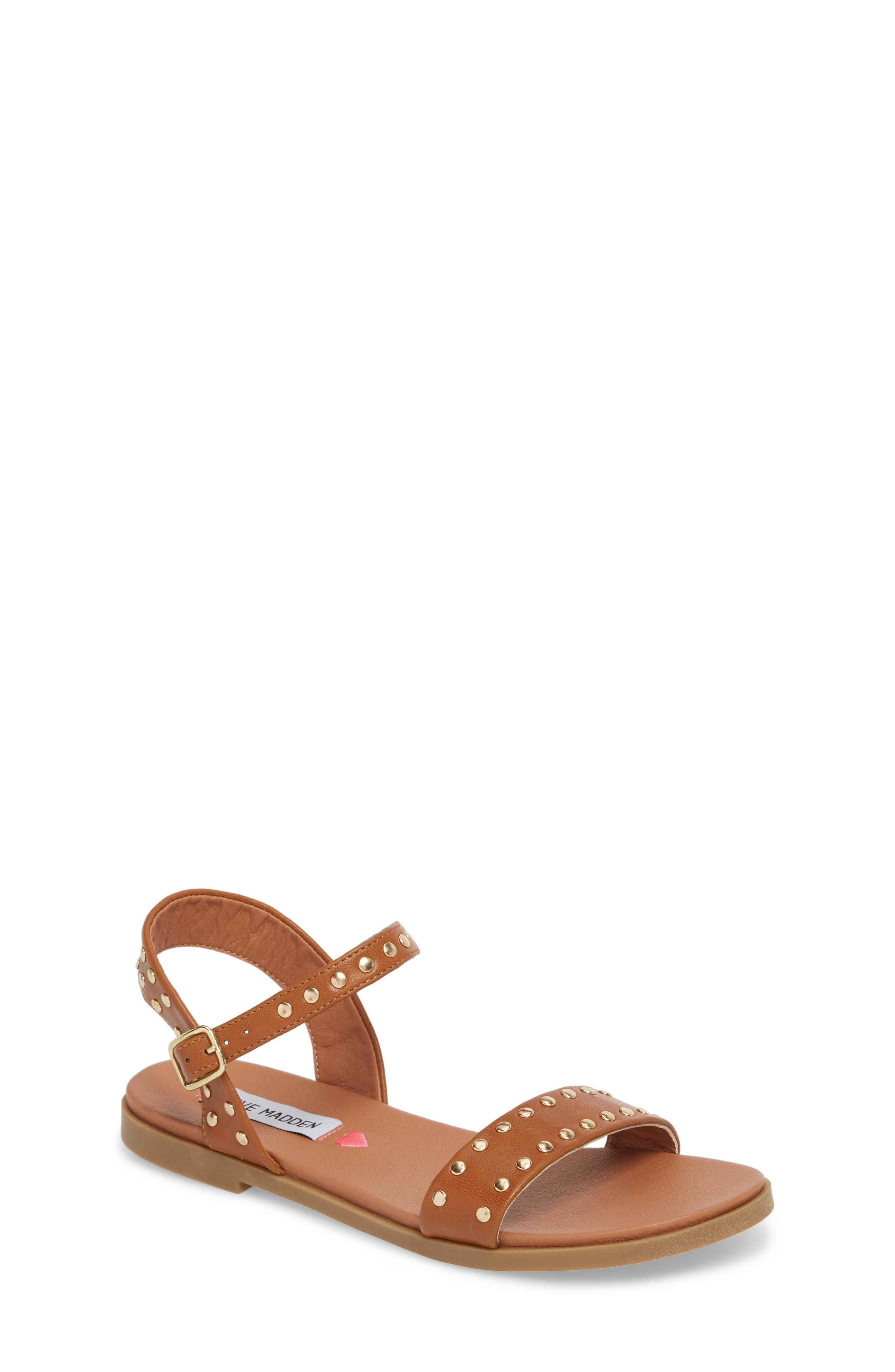 JDONDI Studded Sandal,                         Main,                         color, Cognac