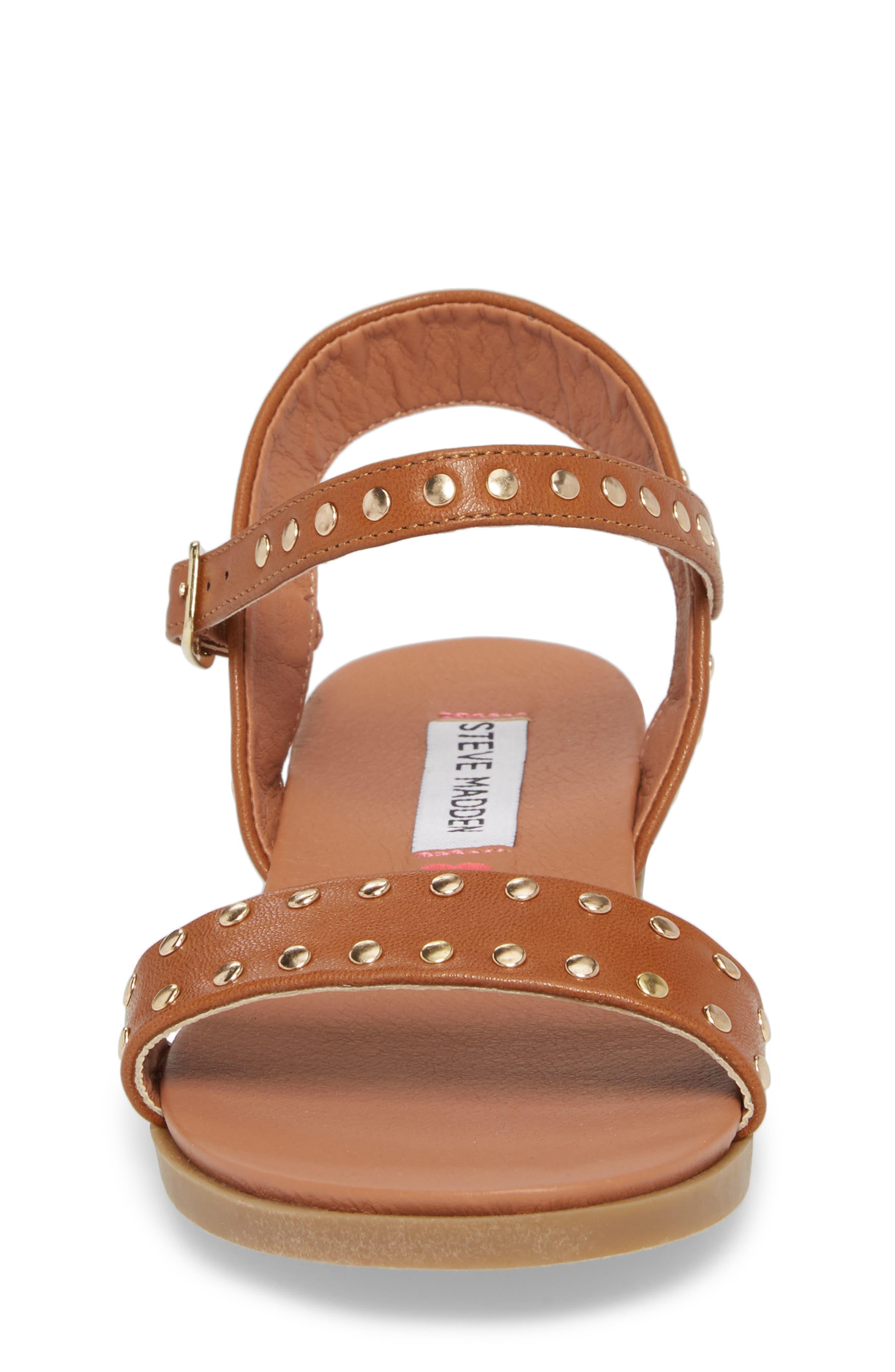 JDONDI Studded Sandal,                             Alternate thumbnail 4, color,                             Cognac