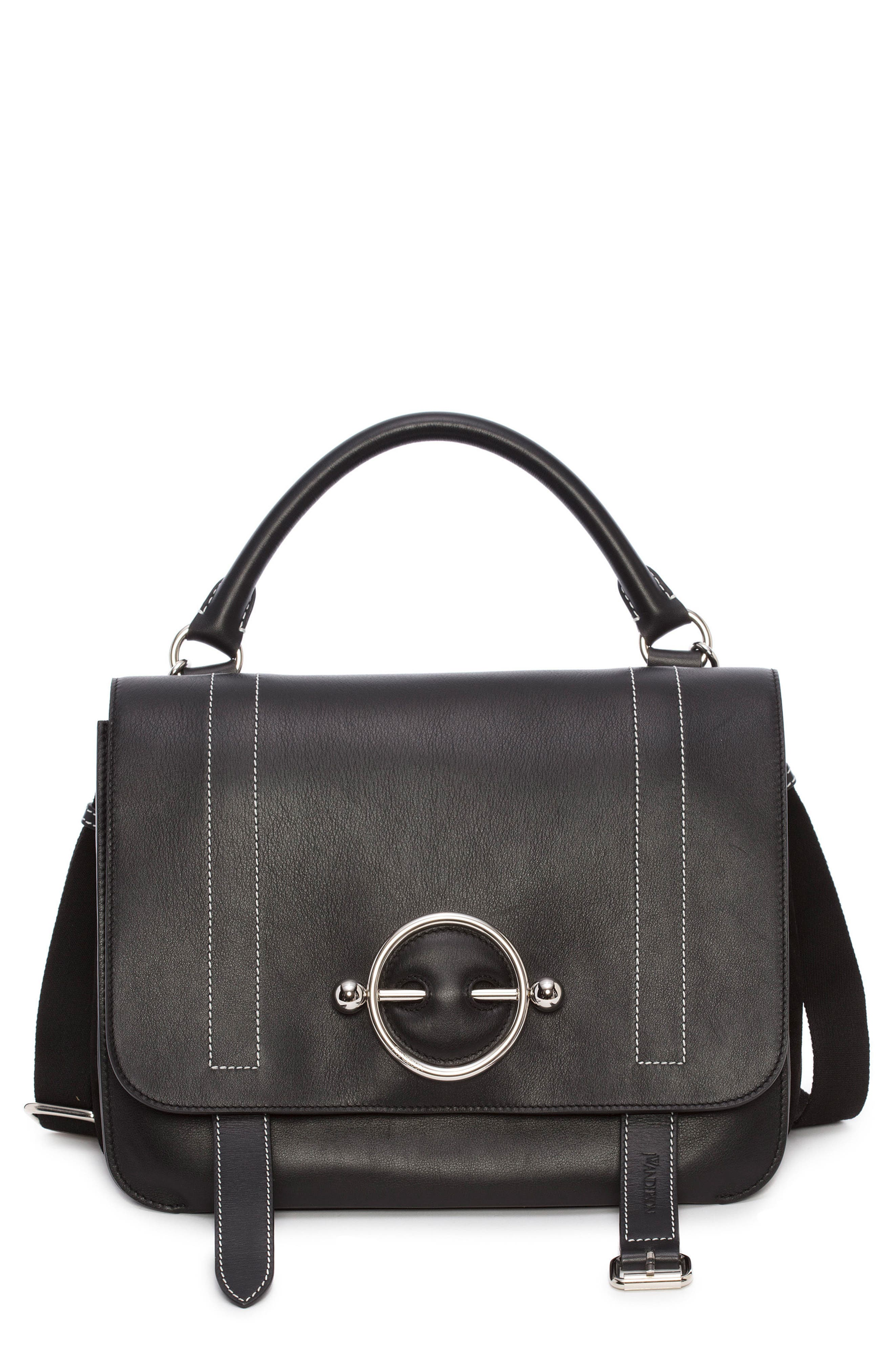 J.W.ANDERSON Disc Leather Top Handle Satchel