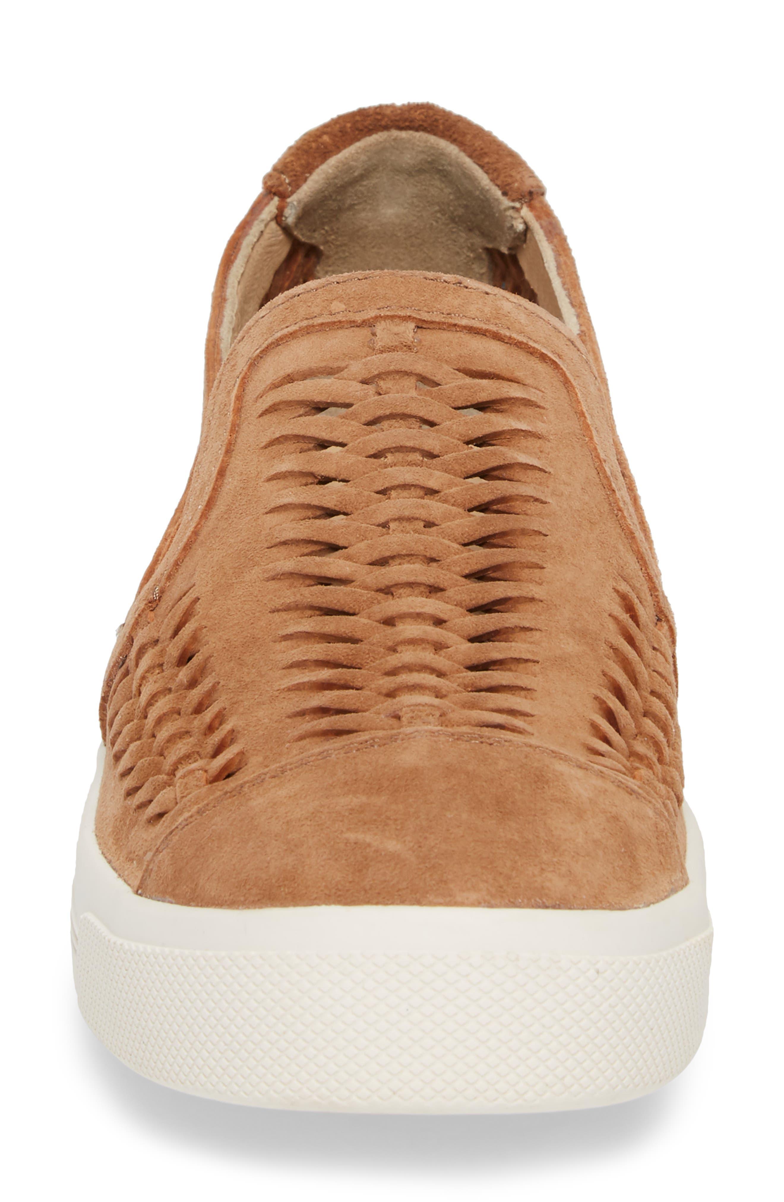 Gabbie Slip-On Sneaker,                             Alternate thumbnail 4, color,                             Tan Suede
