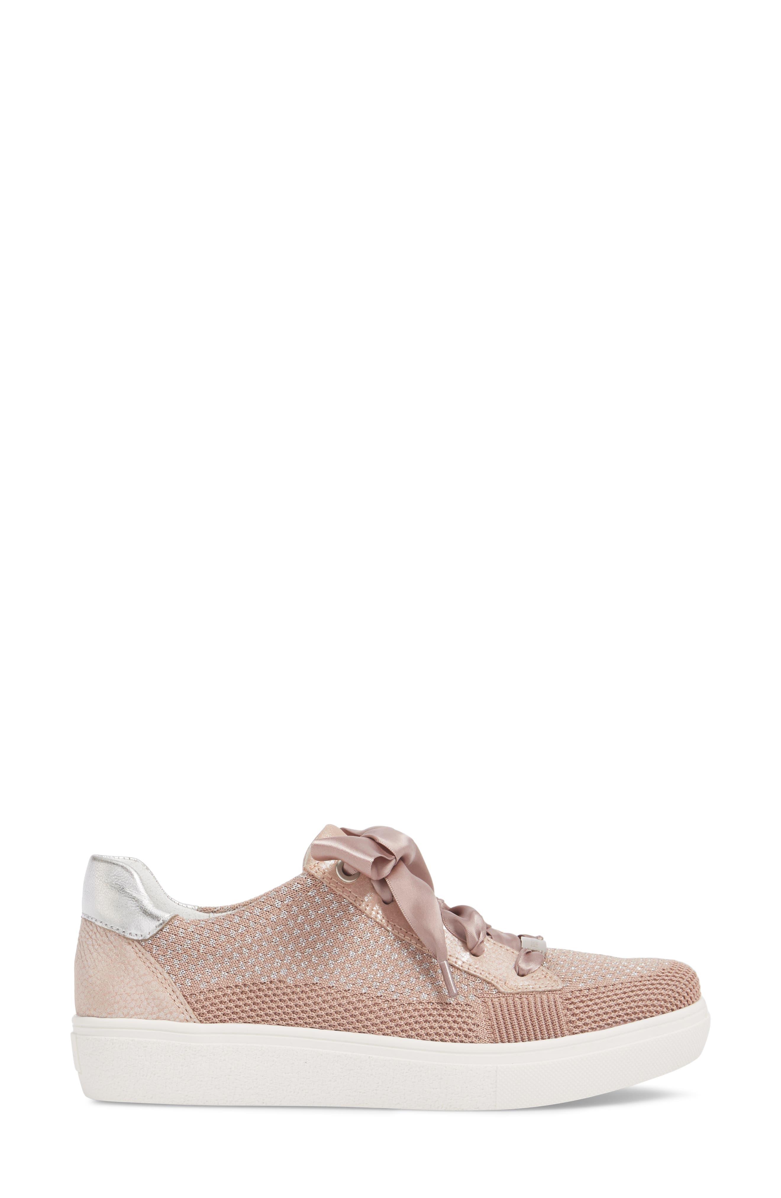 Natalya Sneaker,                             Alternate thumbnail 3, color,                             Powder Fabric