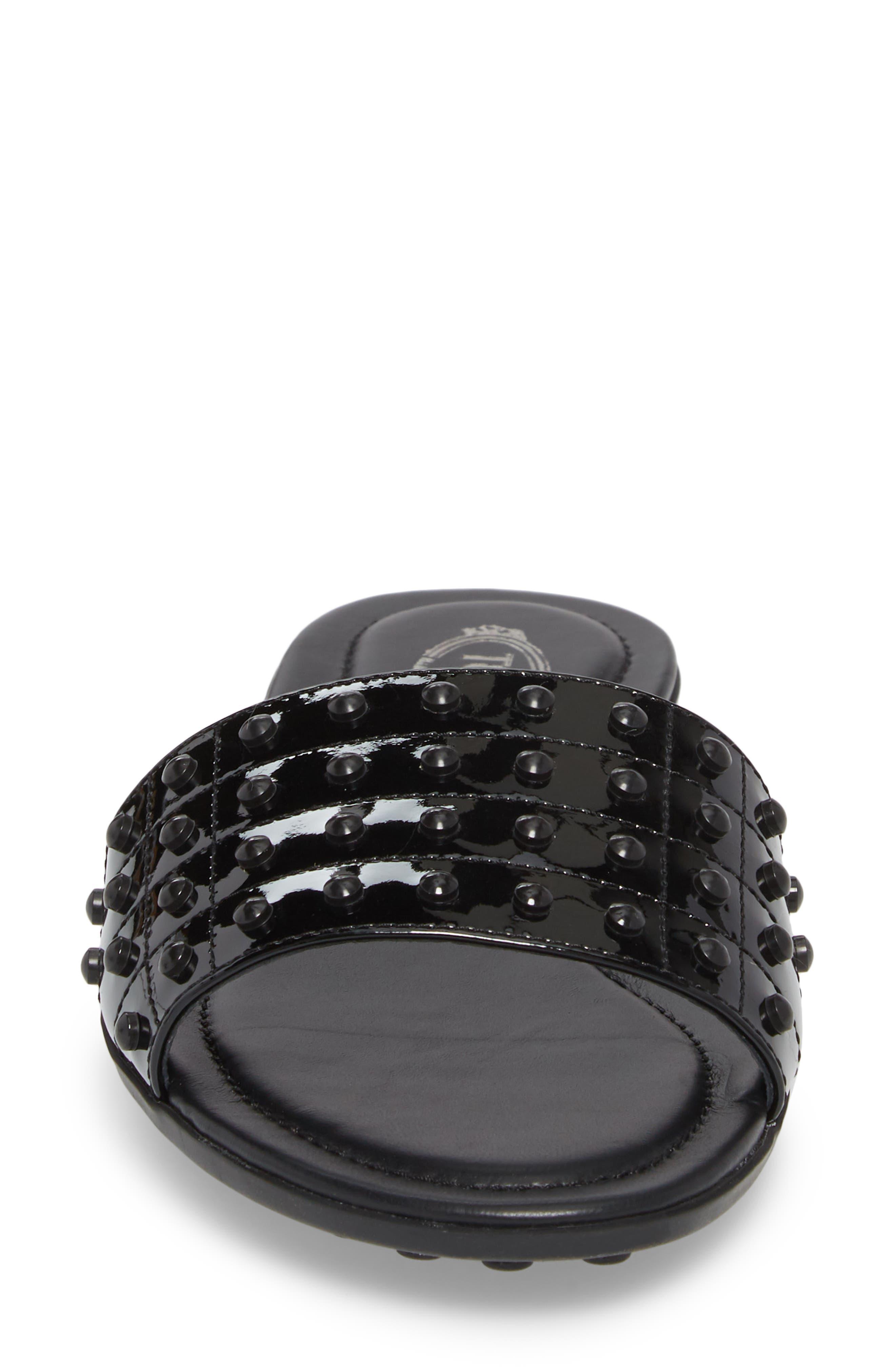 Gommini Slide Sandal,                             Alternate thumbnail 4, color,                             Black