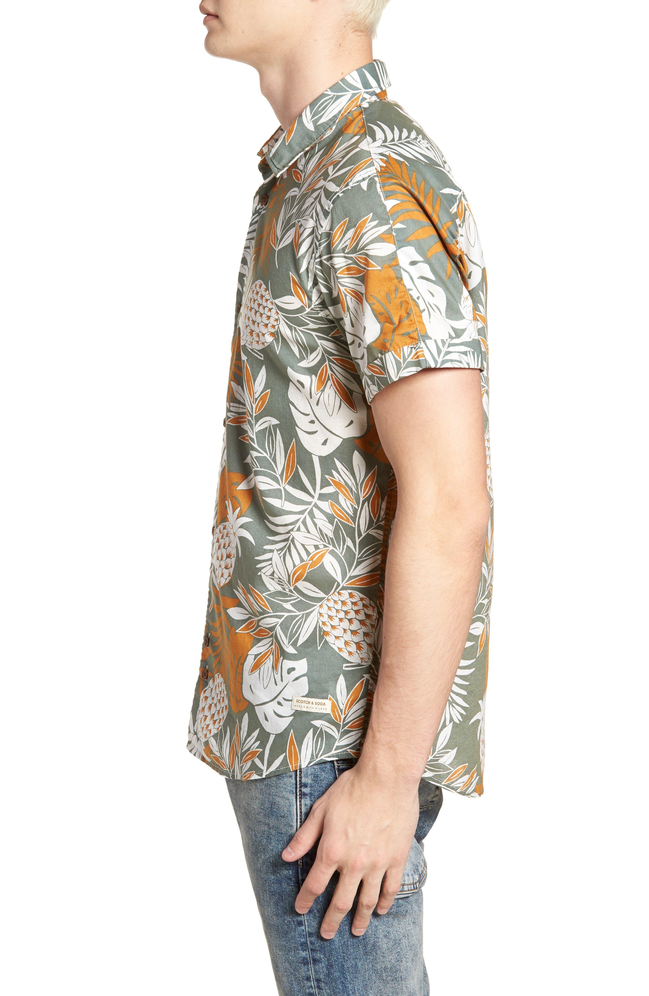 Floral Print Woven Shirt,                             Alternate thumbnail 4, color,                             Combo A