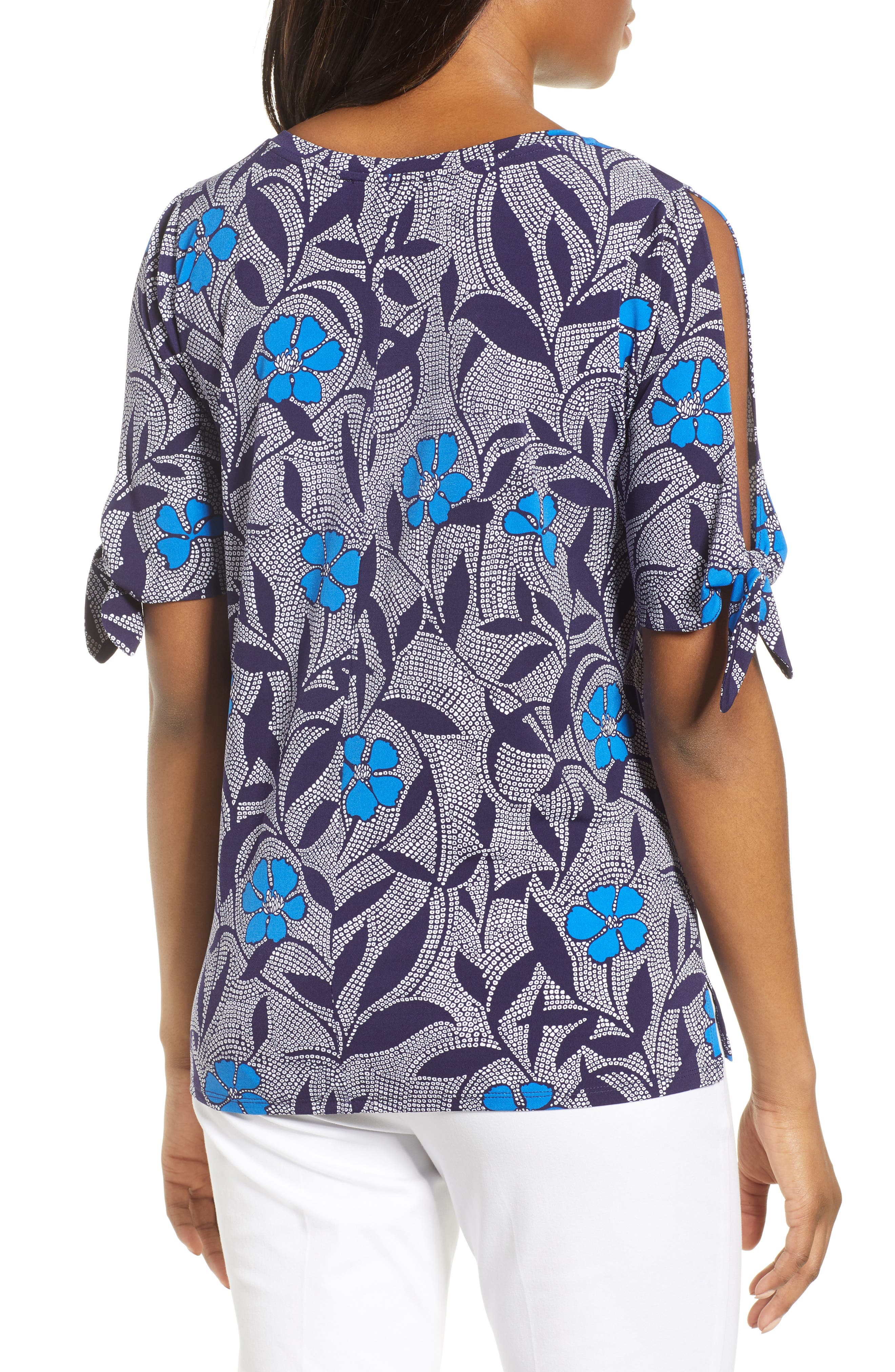 Pacific Bloom Top,                             Alternate thumbnail 2, color,                             Evening Navy