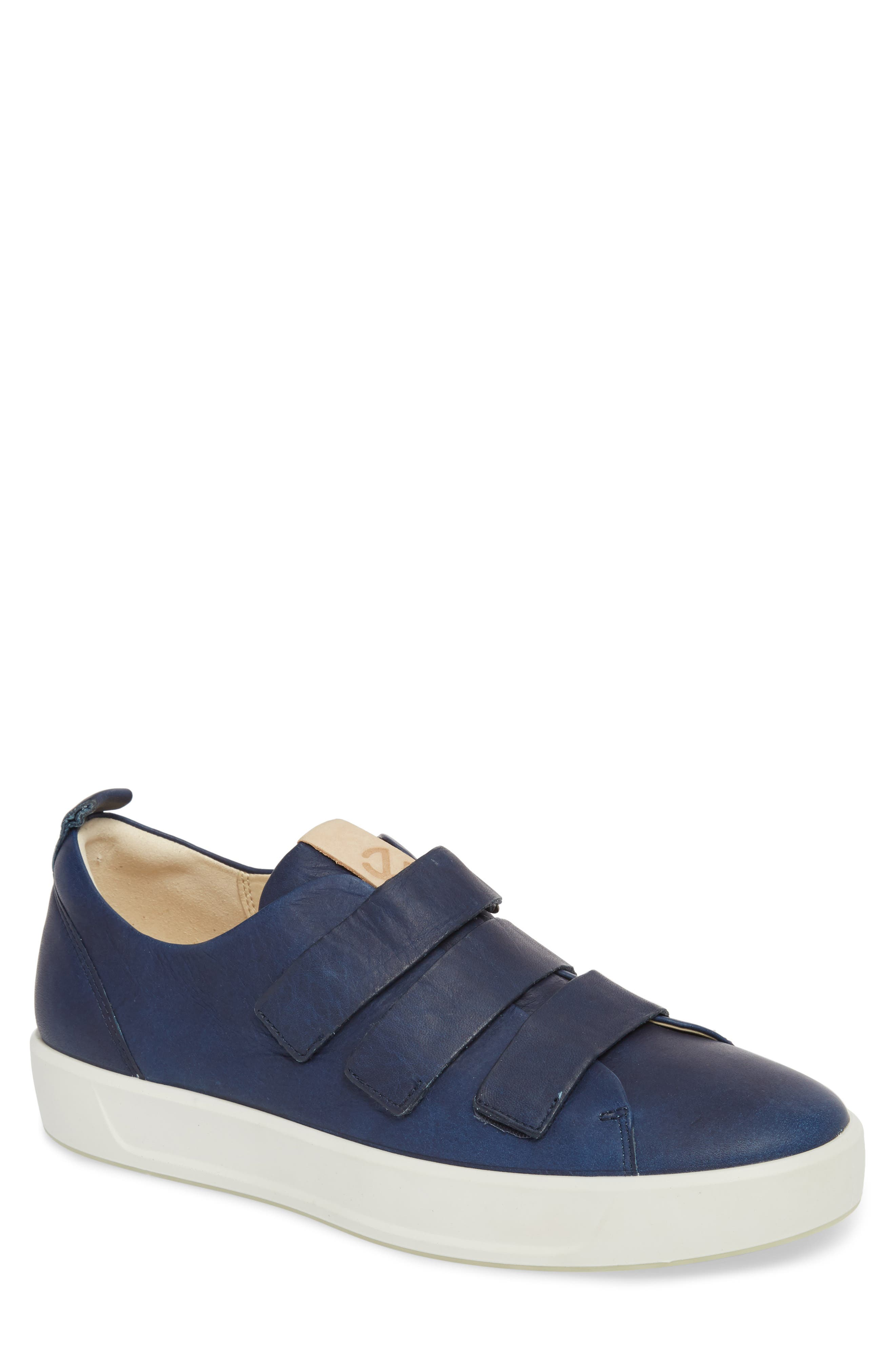 Soft 8 Strap Sneaker,                         Main,                         color, Indigo 7 Leather