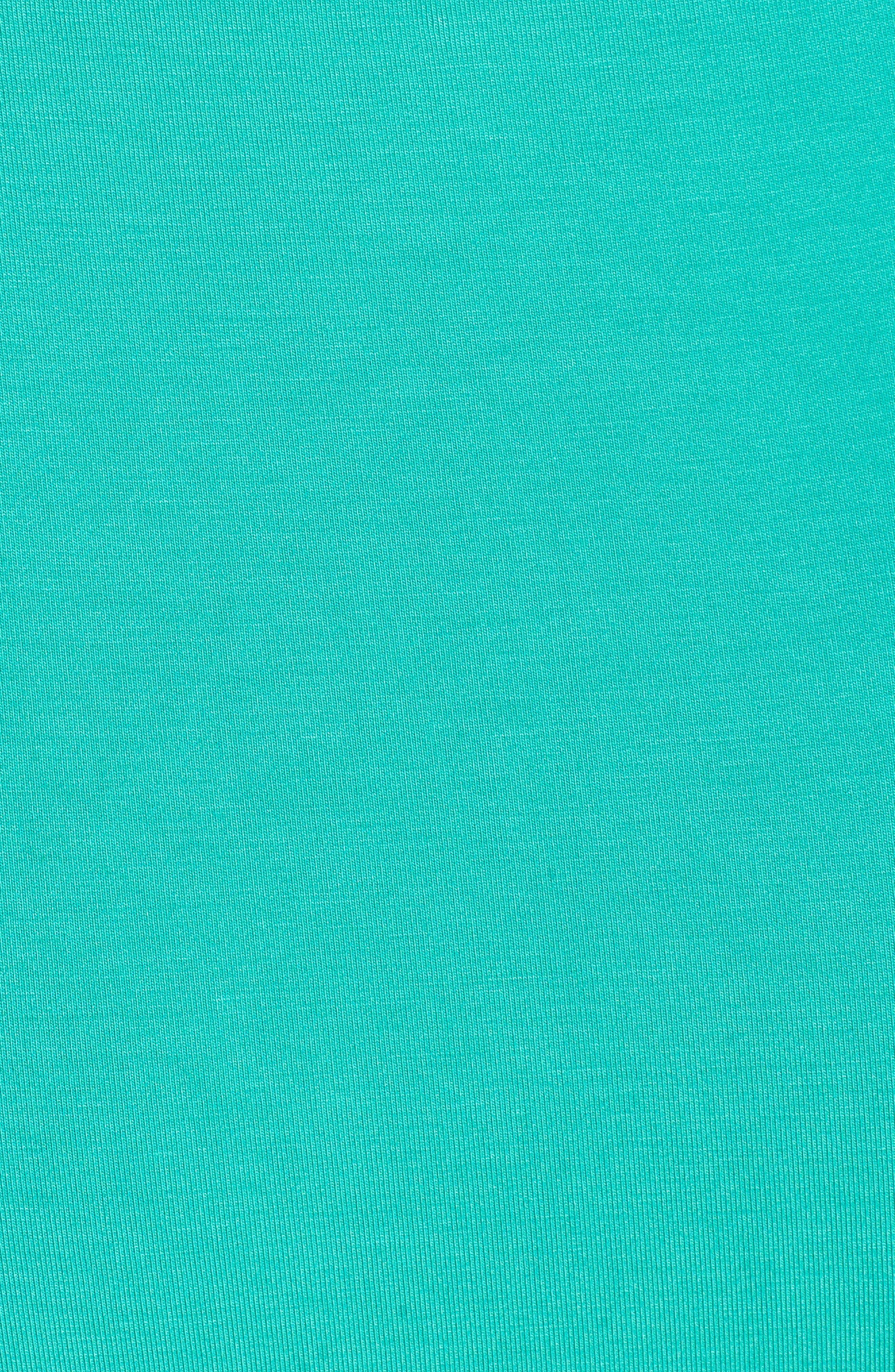 Flounce Front Dress,                             Alternate thumbnail 6, color,                             Aqua