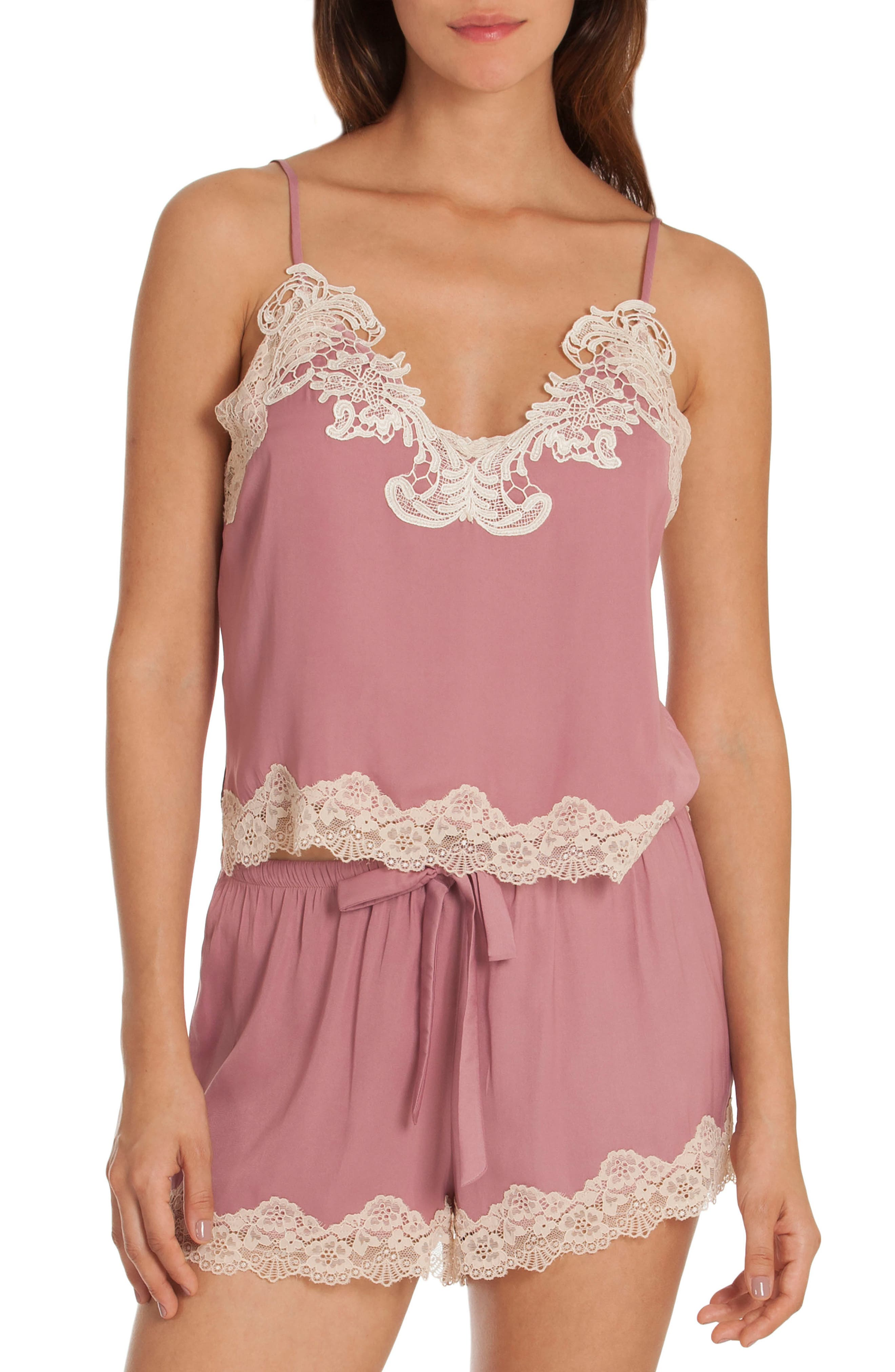 Short Pajamas,                         Main,                         color, Mauve
