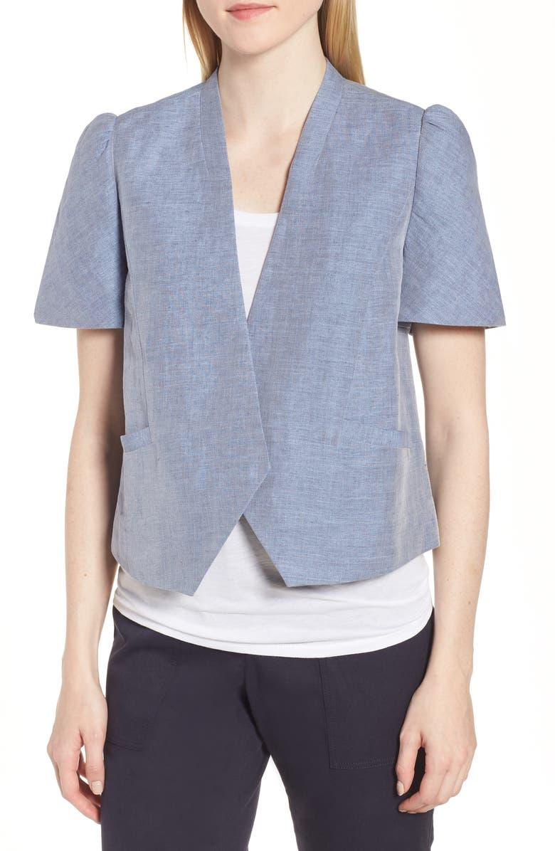Linen Cotton Puff Sleeve Jacket