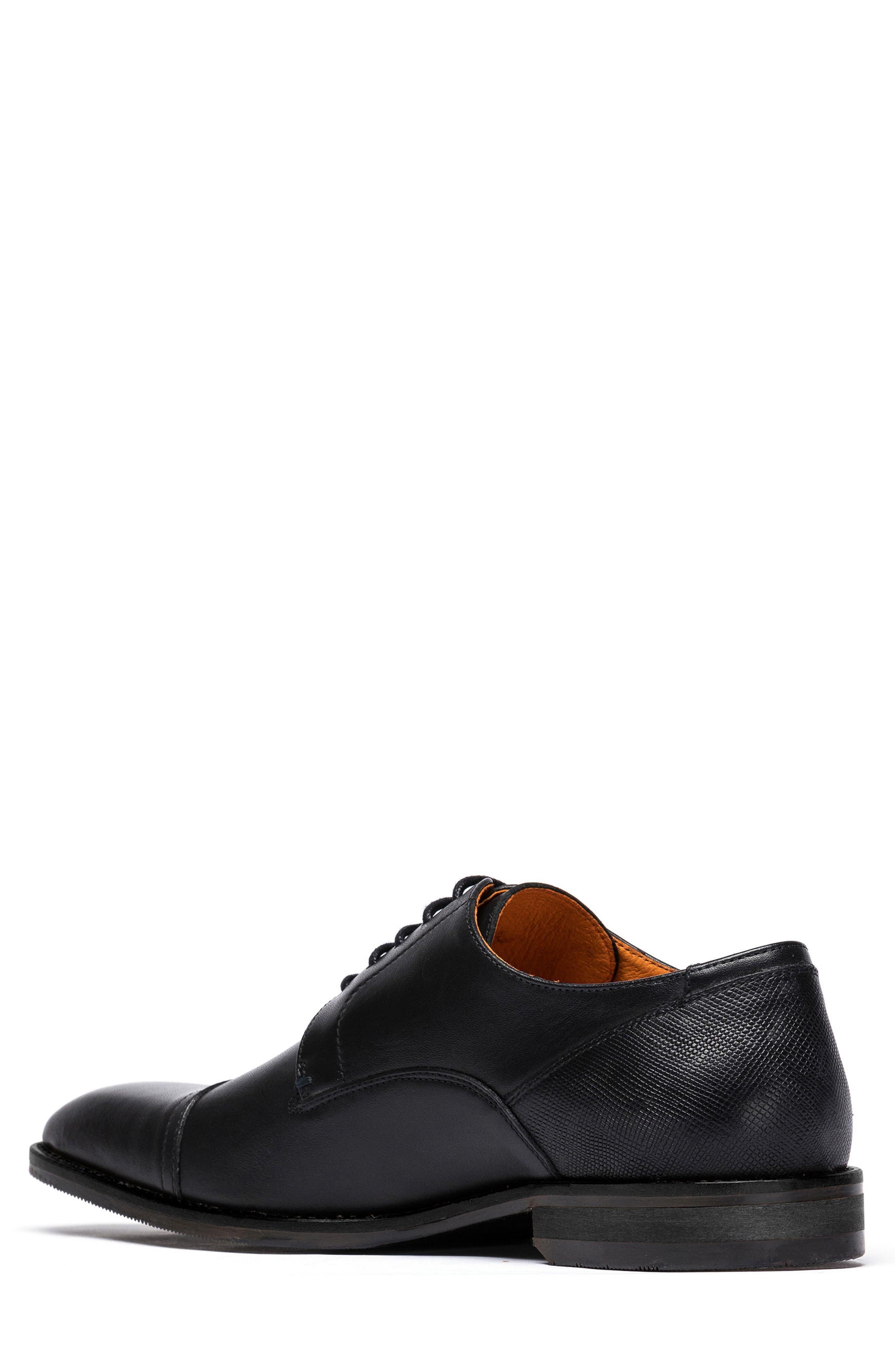 Franklin Cap Toe Derby,                             Alternate thumbnail 2, color,                             Nero Leather