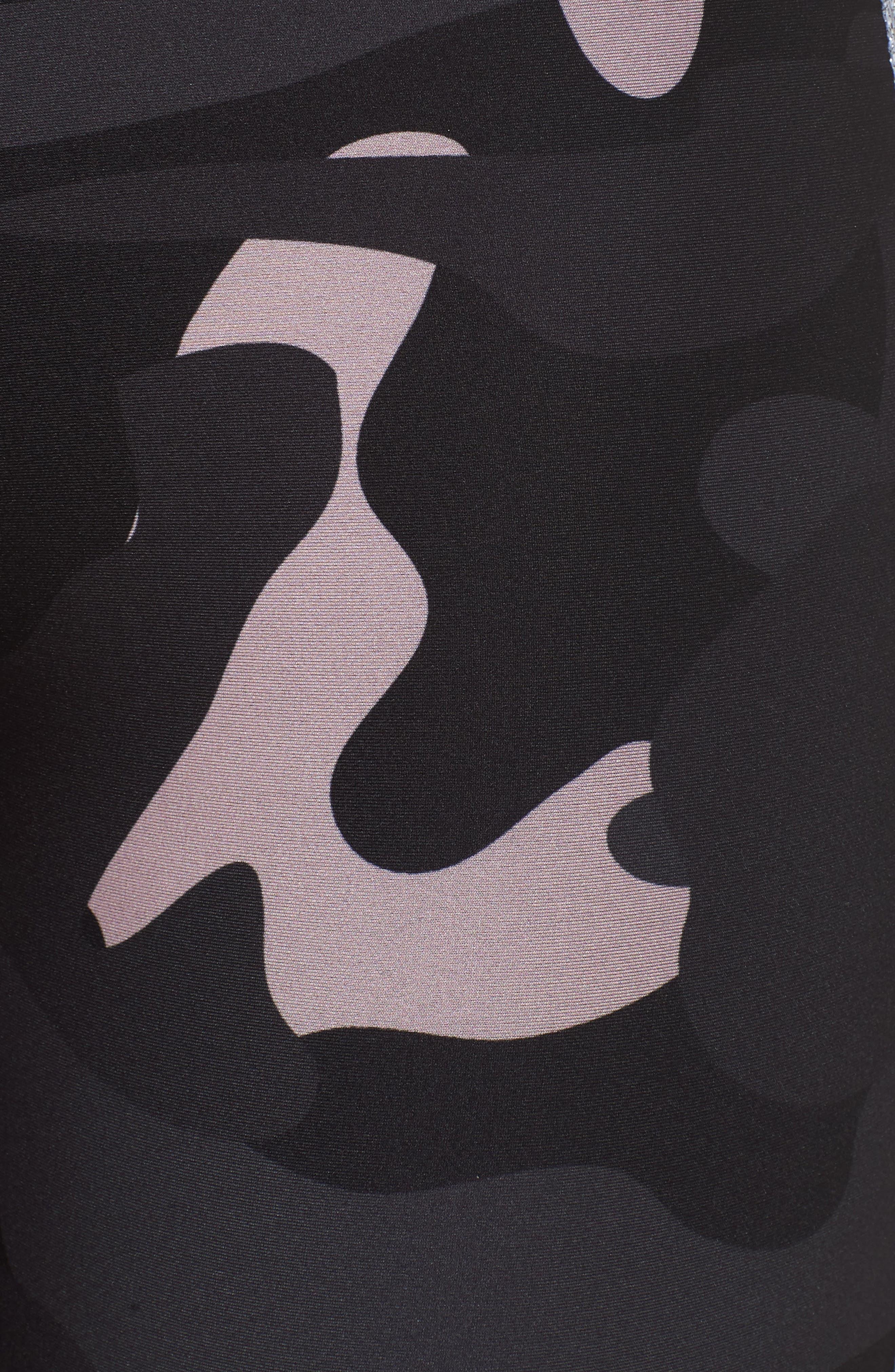 Ultra Camo Collegiate Leggings,                             Alternate thumbnail 6, color,                             Blush/ Silver