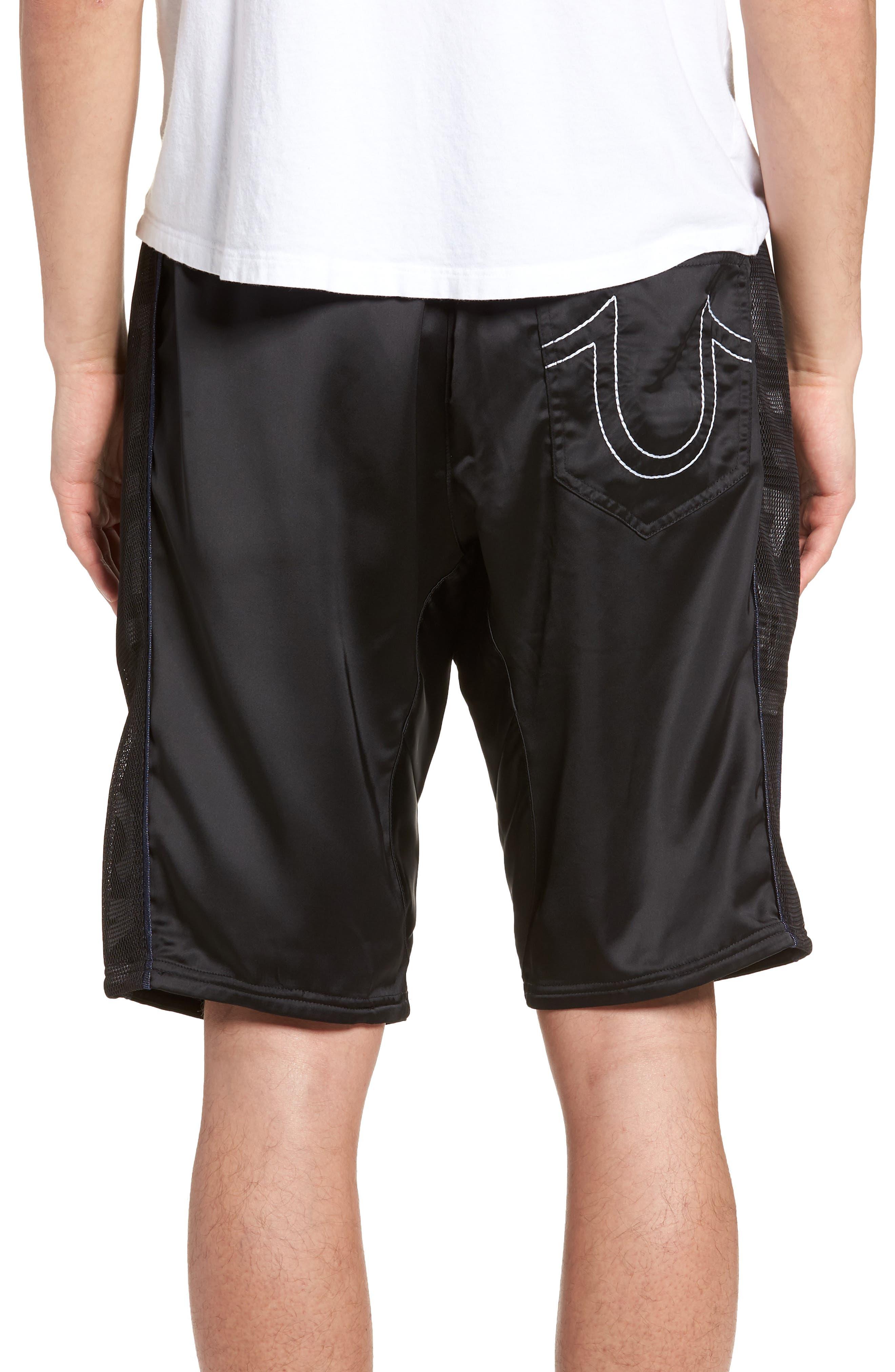 Satin Shorts,                             Alternate thumbnail 2, color,                             Black