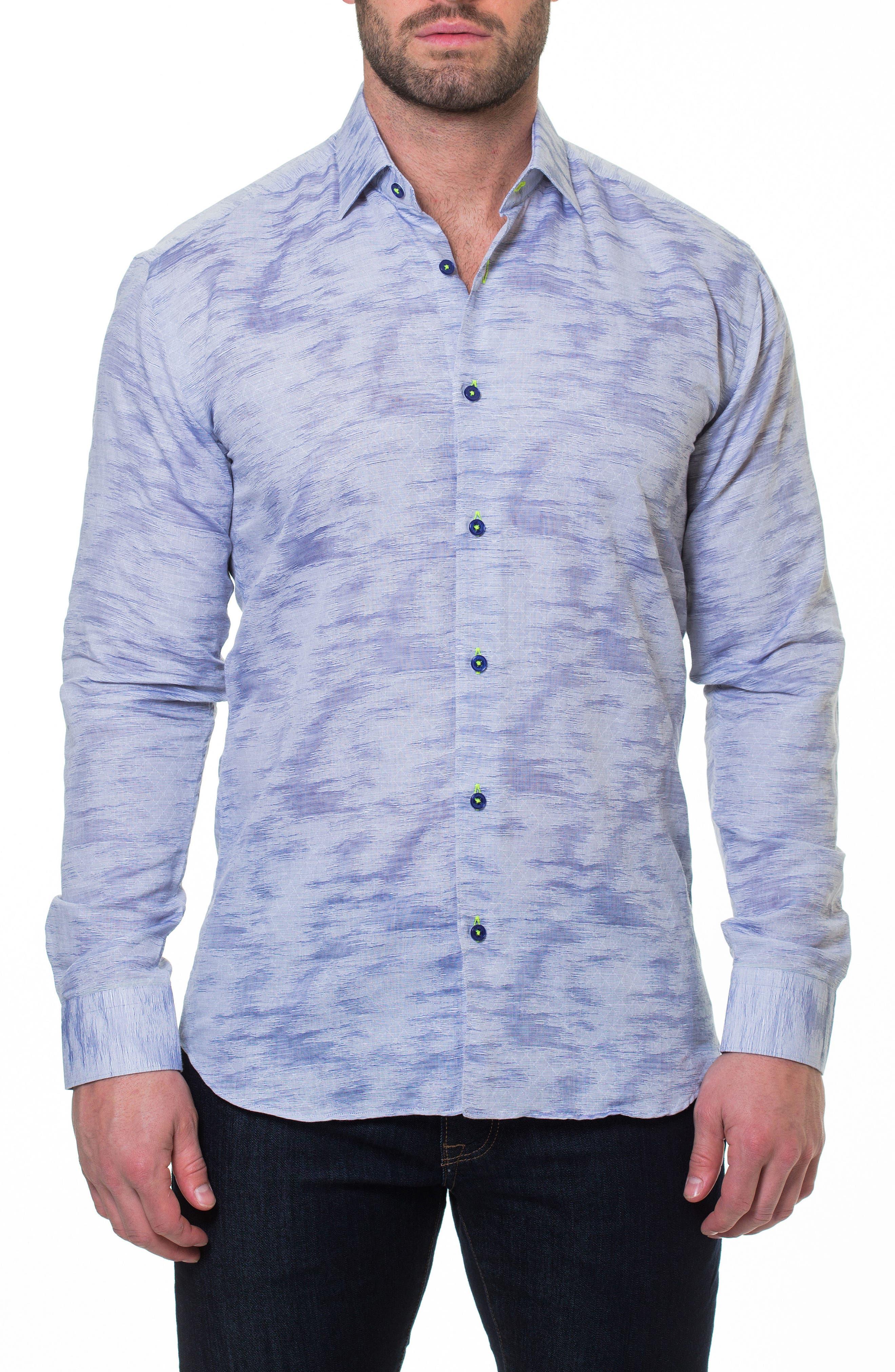 Luxor Richter Slim Fit Sport Shirt,                             Alternate thumbnail 3, color,                             Grey