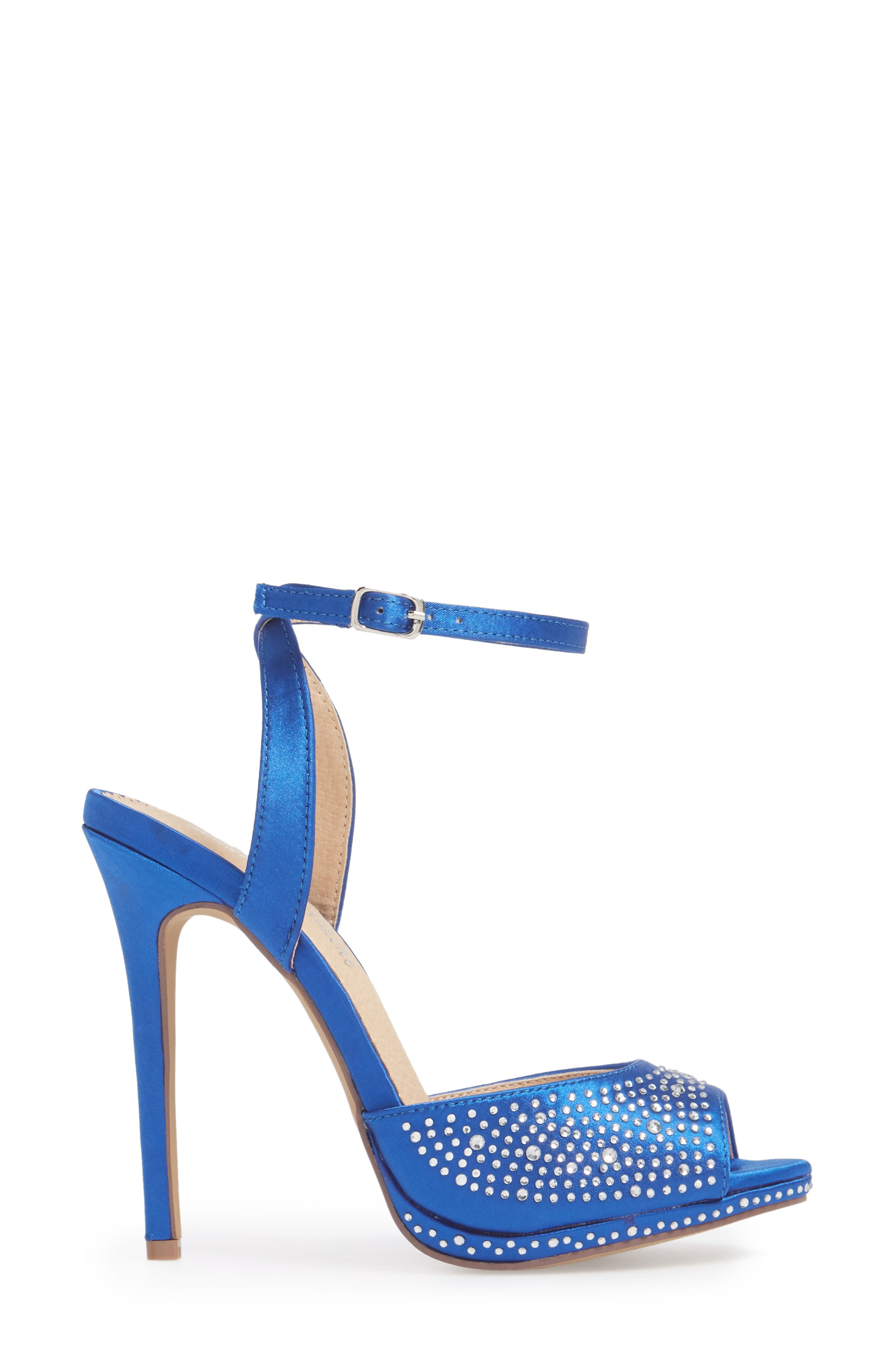 Tavi Sandal,                             Alternate thumbnail 3, color,                             Royal Blue Fabric