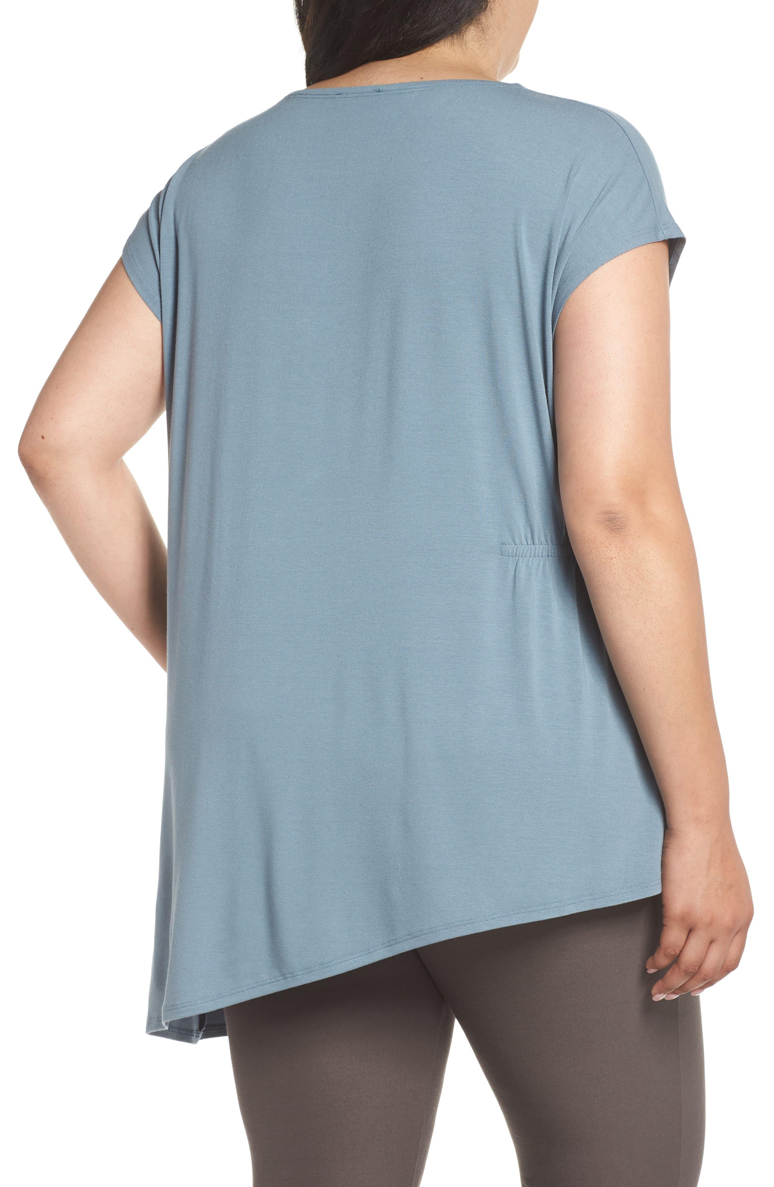 Asymmetrical Jersey Top,                             Alternate thumbnail 2, color,                             Blue Steel