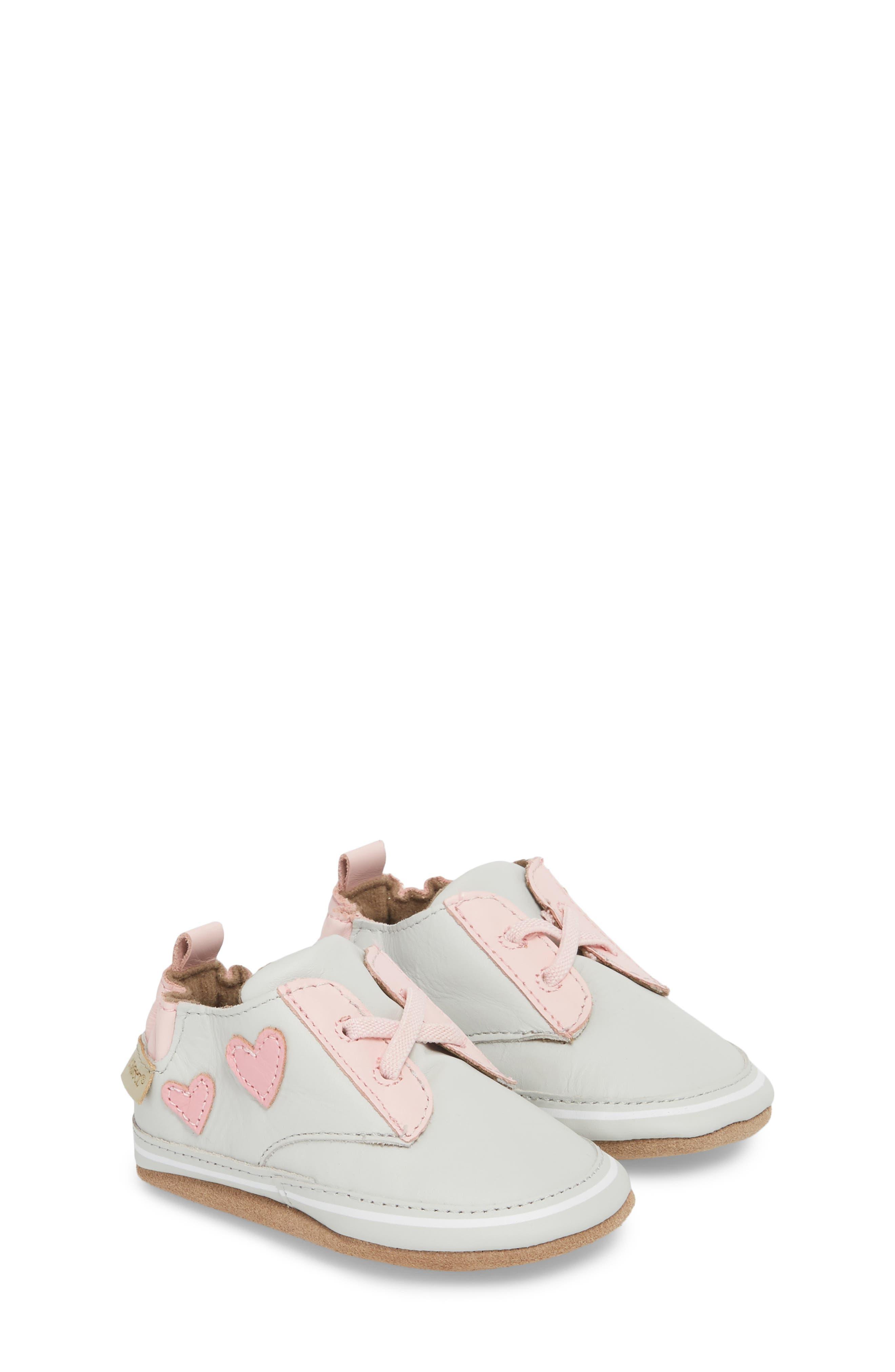 Heartbreaker Slip-On Crib Sneaker,                             Alternate thumbnail 3, color,                             Light Grey