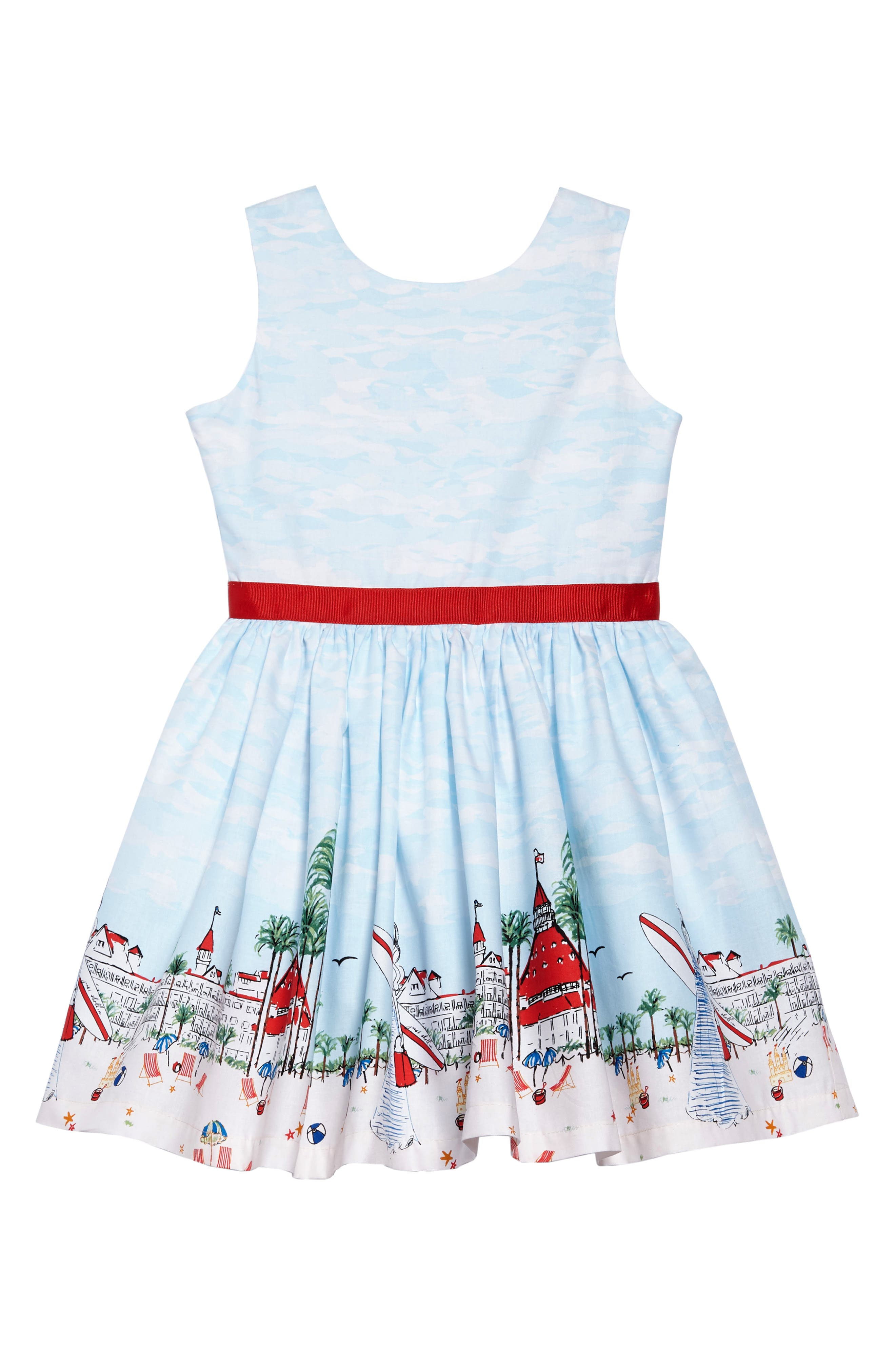 Fiveloaves Twofish Just Shellin Party Dress (Toddler Girls, Little Girls & Big Girls)